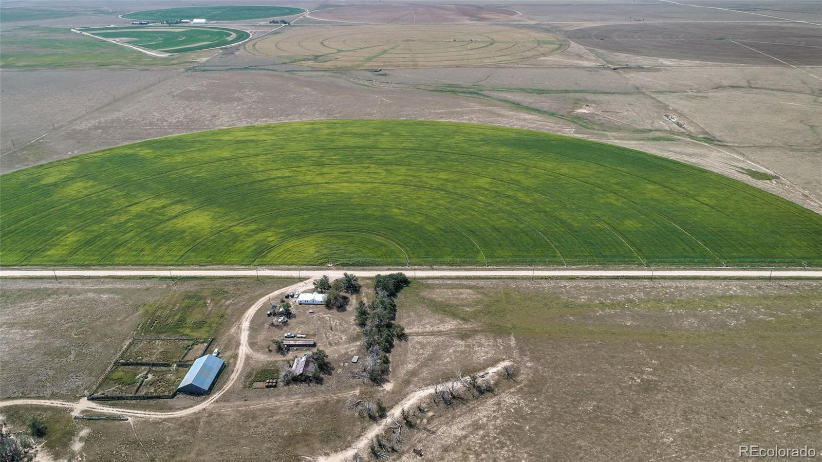 Finally!!! Now Is Your Chance To Own A Family Ranch That Has Been Family Owned and Operated For Years*Take A Look At What This Property Has To Offer*Approx. 430 Total Acres*227 of Irrigated Ground*Pivots*Irrigation Equipment In Place*Great Option To Grow Your Irrigated Crop Of Choice*Seller Has Planted Several Different Crops Over The Years*203 Acres of Grassland*Water Rights INCLUDED IN THE SALE*Farm House (currently tenant occupied) For Your Hired Hand or Your Rental Income*Build Your Dream Home and work on the Ranch*Outbuildings*Corrals*Property is Fully Fenced and Cross Fenced And Fencing Is In Good Condition*Seller Has Taken Great Pride In This Ranch For Many Years, So The Ground And The Irrigation Equipment Is In Great Condition*Ranch Can Be Sold In Several Different Ways*Great Location, approx 45 minutes to Colorado Springs, 90 Minutes to Denver*There Is To Many Options To List For This Ranch*What Do You Want To Buy? Like What You See? You Will Not Be Disappointed*