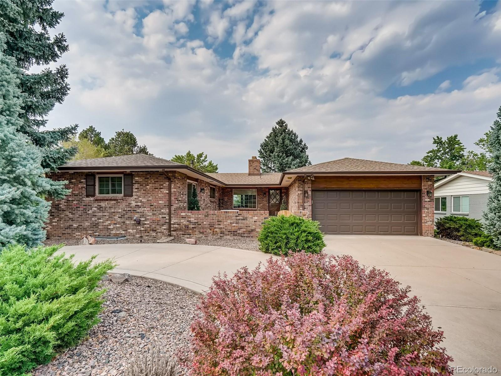 All brick sprawling ranch with walkout basement. Close to Old Town Arvada and new stores and shopping close by on Ralston.  Light rail access close by.   Original owners of custom built home took very good care of this jem.  Tons of square footage with lots of opportunity to make your own.  Completely fenced yard with gorgeous courtyard patio area on circle driveway for plenty of parking.