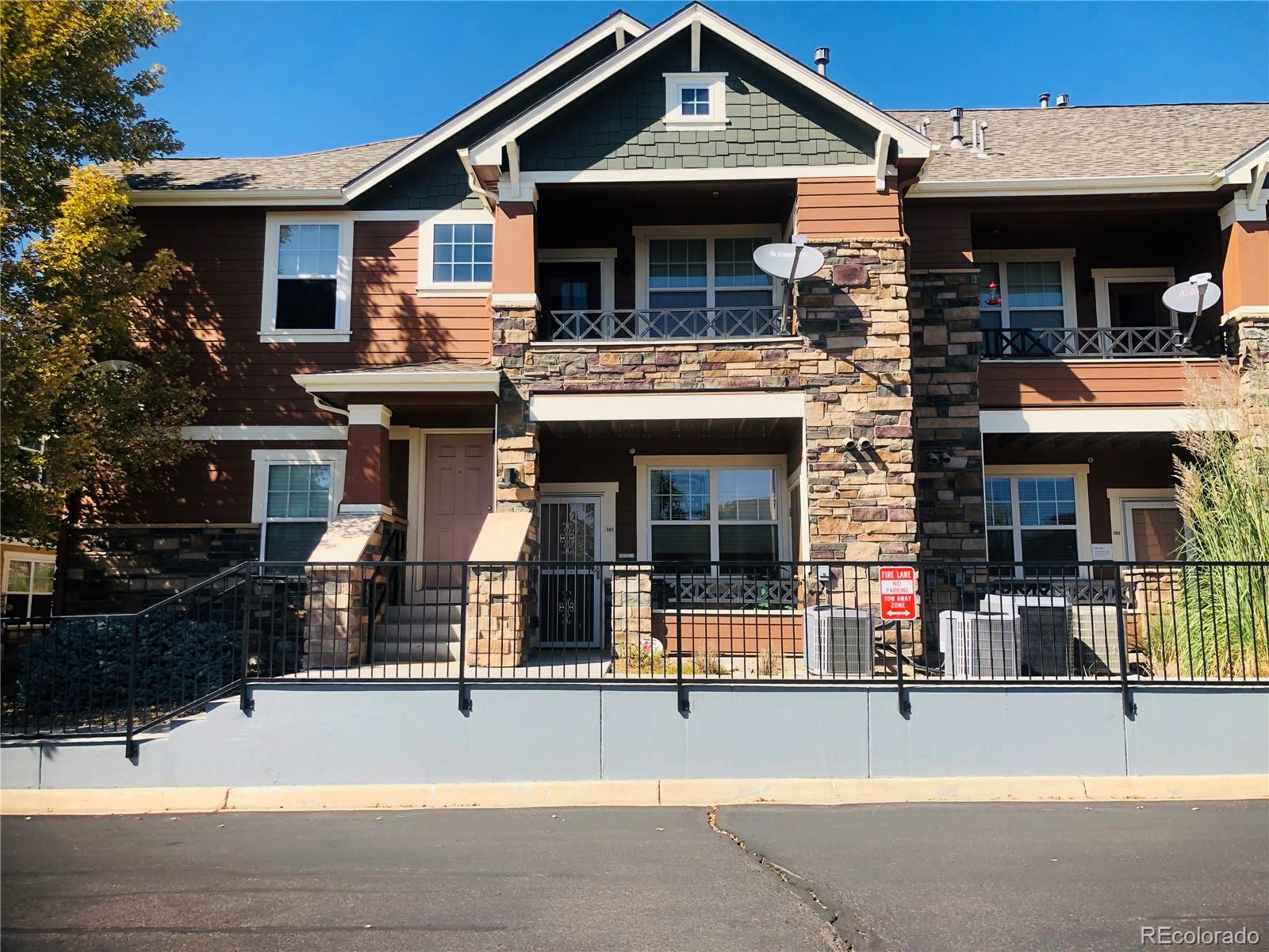 The perfect condo located in the heart of Arvada. beautiful newer condo features open floor plan.  light and bright large living room with fireplace.  2 bedroom 2 bath, large kitchen with lots of cabinets and newer appliances.  balconies with storage, one car garage! located right across from the swimming pool club house. This home has been well maintained and is ready for any of your buyers great for first time home buyers through down-sizers. The location can't be beat!