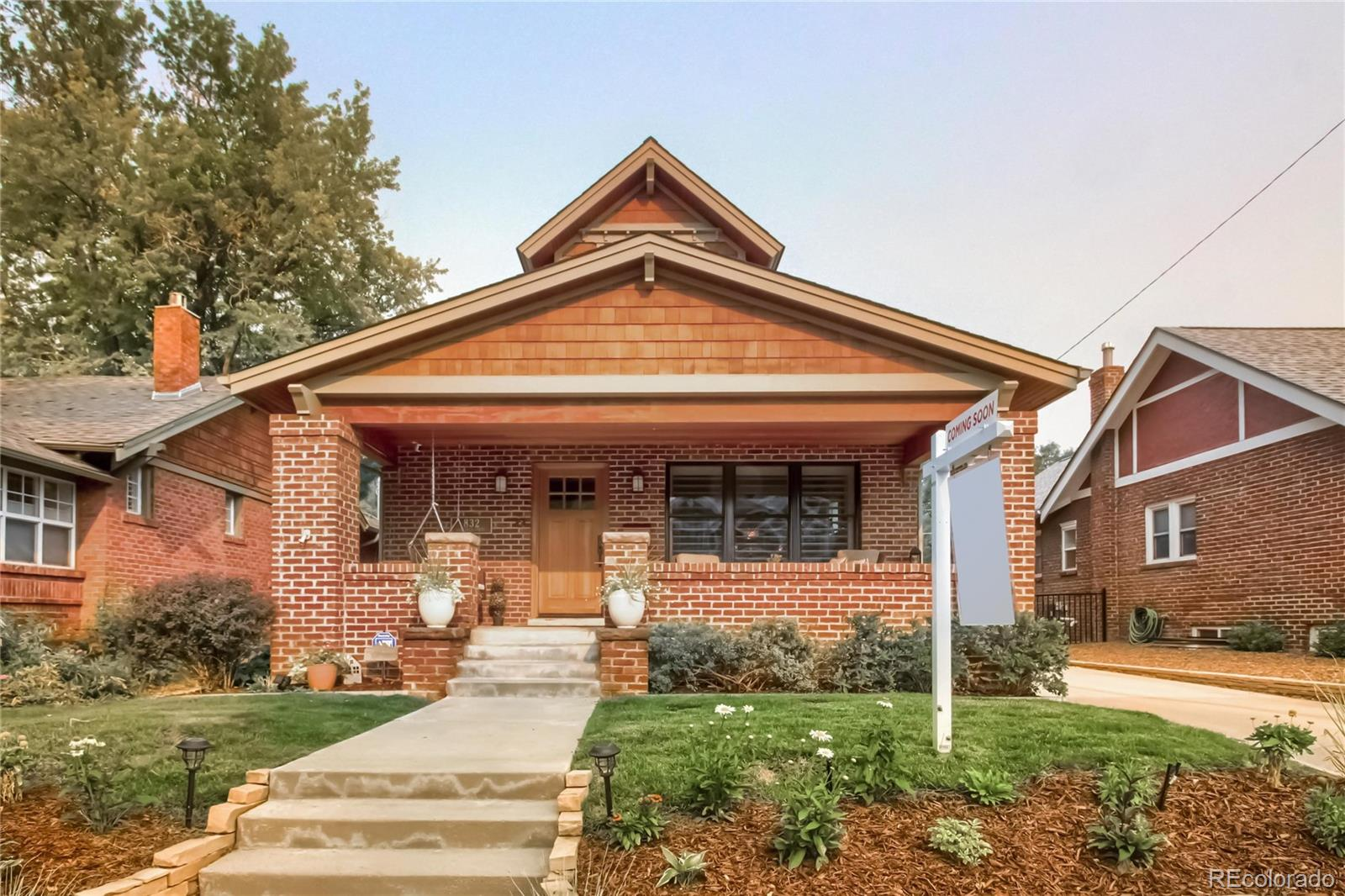 """Showings begin Saturday 9/12. Fabulous finishes and architecture in Denver's premier Congress Park neighborhood. Custom pop top bungalow and complete ground-up remodel in 2010 with top-of-the-line luxury finishes you'd expect in a multi-million dollar home: Rohl faucets, subzero fridge, GE series 6-burner commercial gas range & Asko dishwasher, chilled wine bar, ToTo toilets Pella double-pane windows, full bar in basement, sound system throughout the whole house, patio and porch, white plantation shutters (2020), porch swing and solar shade (2020), gorgeous white oak wood floors and private custom dog washing station! Work from home in a light and bright study with glass-paned french doors, and then entertain your guests at the full bar or outside on the heated and covered back patio even when the chill sets in. Sellers added a large two-car, drywalled and fully-insulated detached garage in 2017 with attic space, cabinets and work bench. Room to park additional cars on separate side driveway. Exterior stain 2017, solar landscape lighting, This home has it all, including dual HVAC systems and a radon mitigation system. If you've ever wanted to live in luxury close to everything, including Cherry Creek North, Trader Joe's and downtown, this location can't be beat. With restaurants, shops, coffee shops, wine bars and brew pubs, Congress Park is """"the"""" place to be."""