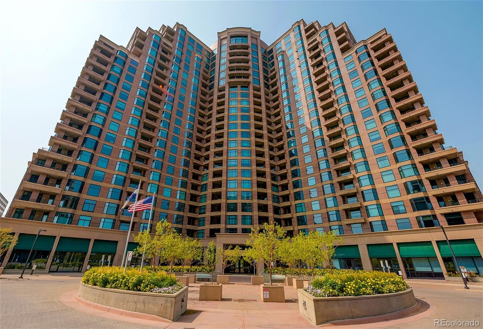 Location, Location, Location!!! Enjoy luxurious & friendly living at Penterra Plaza! This beautiful 2 bed, 2 bath condo has lots of windows which create bright & airy spaces in this open floor plan. Enter the unit & you are dazzled by the expansive views through the great room windows! the kitchen is to the left & has all stainless appliances, lots of counter & cabinet space it's is open to the great room w/a countertop/ eating bar you'll enjoy using for breakfast or a cup of coffee!  The great room has large windows for light & space for dining & living areas! A door leads out to the private balcony for indoor outdoor living & entertaining! The large master suite has a sliding door out to the balcony, walk in closet with a professional closet organizing system installed & an ensuite bathroom. The ensuite features a soaking tub, walk in shower, a loo room & dual sinks! Plenty of cabinet space for storage! On the other side of the unit is a hall bathroom w/walk in shower, laundry room w/space for washer & dryer, an office in the hallway that has desk & built in shelves. A secondary bedroom w/big bay window! All this is located in an amazing building! Enjoy the Grand lobby w/24 hour security & front desk service/concierge service, business center complete w/WIFI, multiple computer stations & a large conference room, state of the art fitness facility,  2 private luxury guest units can be reserved for out of town guests. All common areas were recently updated!!! The second floor clubhouse features indoor gathering area with abundant seating & audio/visual, full kitchen & an outdoor area w/grills & outdoor furniture. Condo includes a Deeded Parking space R1104,in a heated covered secured garage & a storage unit. A 2nd parking spot is leased for $125/mo& is paid through June of 2021. Walk to many DTC restaurants, coffee shops, grocery store, Wallace Park, Light Rail & Bus to DIA! Close to I-25 & I-225 for fast commute! Don't Miss this one! Come see it before it's gone!