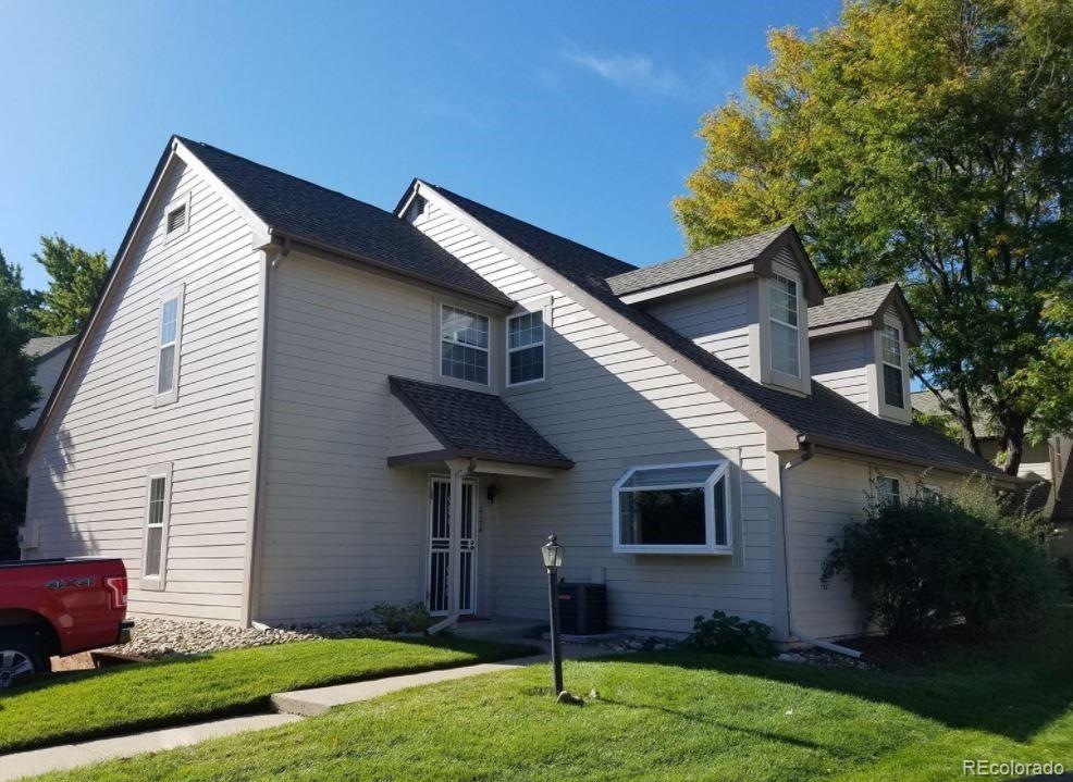 You are going to love this 2Bed/2Bath townhouse located on the Heather Ridge golf course.  Minutes to Anschutz Medical Campus, Buckley Air Force Base, and only 1.5 miles to the Iliff Light Rail Station.  The community pool is right across the street and there's walking trails nearby, perfect if you have pets.  The 1-car garage is right outside the unit and there is also a reserved parking spot right out front.  Walk inside the unit to vaulted ceilings in the living room centered around a stone fireplace.  Open floor plan and lots of natural light in the living room.  Updated kitchen with granite countertops and stainless-steel appliances. Dining also on the main level and there's a bedroom and full-bath on the main level as well.  Upstairs is the master bedroom, master bath and loft, perfect for a second TV lounging area or office.  What makes this unit unique and one of the highlights is the enclosed porch – perfect hangout spot on summer days.  It also gives the unit an inside-and-outside living feel, ideal for both entertaining guests or just relaxing.