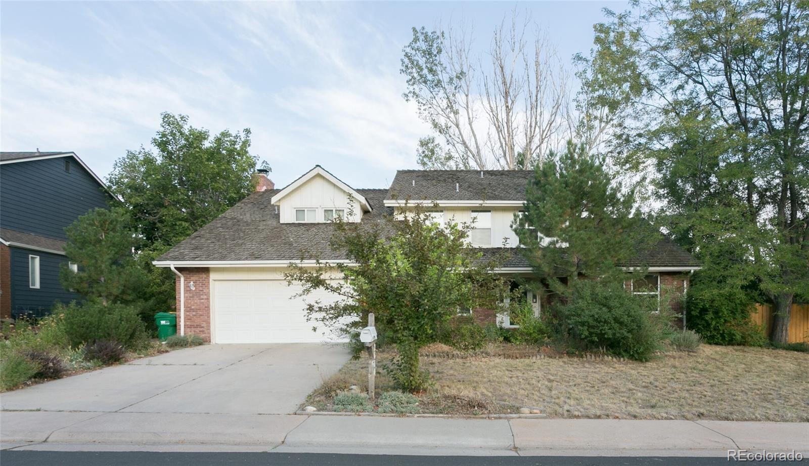 """Interested in adding your finishing touches, but hate the first part of a remodel?! This home is for you! With a large home and lot, including larger bedrooms and a basement, this gem has a lot of potential. Sellers began a remodel but moved out of state for a job change. Painting is mostly done, floors are showing floorboards in some areas. Tremendous curb appeal with immaculate landscaping that's been neglected, but ready for your love! Inside, vaulted ceilings and natural light make the large spaces seem even larger. Spacious kitchen has tile counters, tile back splash, custom cabinetry and all appliances. Living room fireplace provides cozy retreat on cold days. Upstairs, four bedrooms can be used as is or become office or other space. Master suite is over sized (yes, it'll fit your king bed AND furniture!) with a large walk-in closet and private five-piece bathroom. Basement offers even more space, which could be finished to add more value with office space, flex space, personal gym or even additional bedroom. Double-sized lot (1/3 acre!) offers large backyard with full fence (replaced in 2017). Former owner (prior to present seller) was professional landscaper and garden boxes are present, but need love. Sprinkler system is also present, but heads need repaired / replaced. From former owner: """"landscaping includes fruit apple, apricot, cherry and plum trees; grape arbor; raspberries; blackberries; red bud tree; spring snow crabs; flowering pear; Vanderwolf pines; Japanese maples"""". The garden and home are yours to discover! Extended two-car garage has enough space for storage and shelving, or workbench. Close to public transportation, highways, DTC and shopping."""