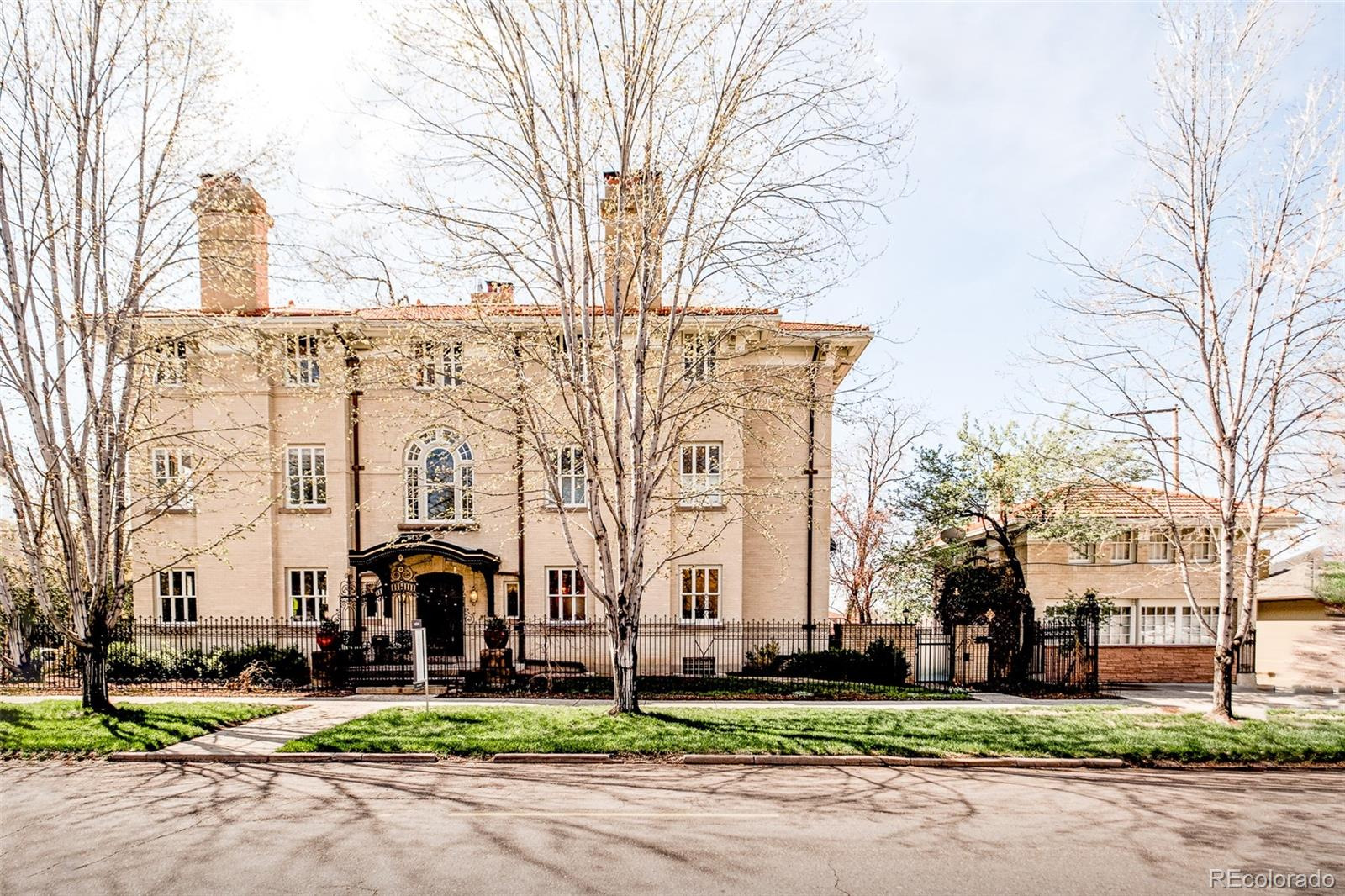 Lavish decadence ambles throughout this Denver landmark. Designed by Fisher + Fisher architecture, this estate has been lovingly restored into an extraordinary work of art that marries modern convenience w/ timeless prestige. The double-staircase entryway flaunts a historical allure that flows into a formal living room crowned by a chandelier + coffered ceilings. A chef's kitchen boasts a side by side Subzero fridge + freezer plus a Wolf range. A retrofitted elevator serves all 4 floors. Upstairs, the master suite astounds w/ a wet bar, fireplace, vast closet, sunroom + stunning en-suite bath. This luxurious motif dances throughout the remaining 5 bedrooms, 3rd floor den + a jaw-dropping lower level w/ a movie theater, home gym, wine cellar + more. Step outside into a 16k sq ft lot w/ mature trees, a lush lawn + 3-car detached garage. At the edge of the property, a 1,000 sq ft carriage house w/ a full bath + kitchen offers an unfettered Capitol Hill experience to VIP estate guests.  When showing this home, please comply with the following: 1) Please have all parties wear a mask at all times. Buyers and buyer's agent(s) must provide their own masks; 2) Please wear gloves at all times – these are provided in the house; 3) Please wear shoe coverings at all times – these are provided in the house; 4) When leaving the property, please take your gloves, masks and shoe coverings with you, please do not leave them at the house; 5) Please follow social distancing guidelines, 6 ft apart between parties; 6) Please leave lights as you found them; 7) Please do not use the restrooms in the house; 8) If you or any buyer is sick, please do not enter the home. Thank you on behalf of milehimodern.