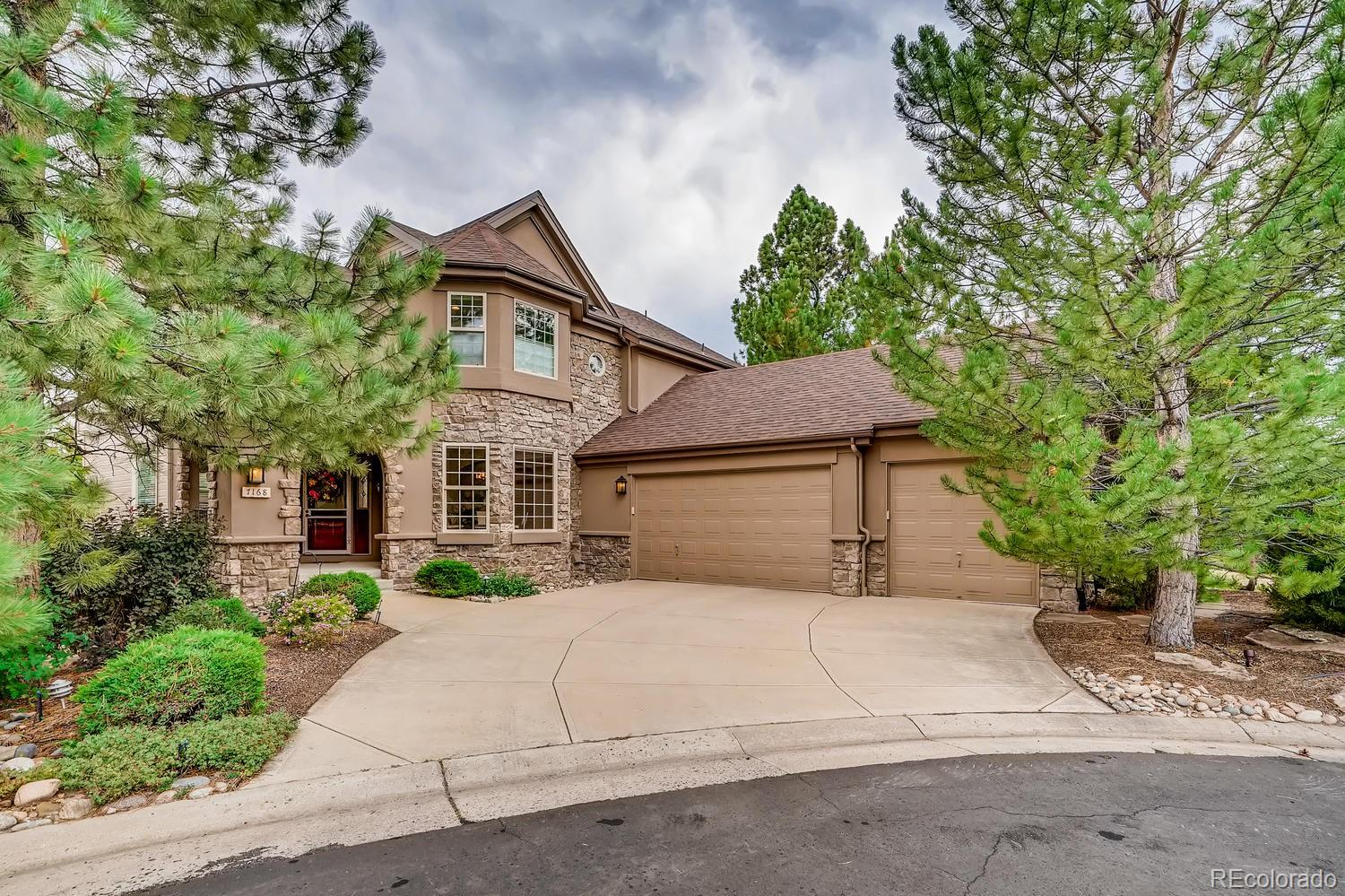 This stunning 2 story in Castle Pines sits on a quiet cul-de-sac and features 4 beds (3 up / 1 bsmt), 3.5 baths, great room, gourmet kitchen, main floor study, finished walkout basement w/wetbar and 3 car attached garage.  Meticulously maintained – pride of ownership shines throughout.  This home could grace the cover of a magazine.  Gorgeous finishes and upgrades throughout.  The kitchen is a cook's dream and is open to the great room – perfect for entertaining. Rich, vibrant colors and the many windows allowing the natural light to cascade in combine to make this home welcoming and cheerful.  Comfortable elegance. Located on a large lot - relax on the deck or patio in your own private oasis.  The finished basement is perfect for guests or that teen wanting their own space.  This home lives large!  So many special touches throughout - a must see.  New roof (1 yr old in Dec) is class 4 hail resistant.The energy efficient furnace, central air, ceiling fans and 2 gas fireplaces keep this home comfortable all year long. Close to dining, shopping, entertainment and other amenities. Don't miss your opportunity to call this one yours.  Welcome Home!