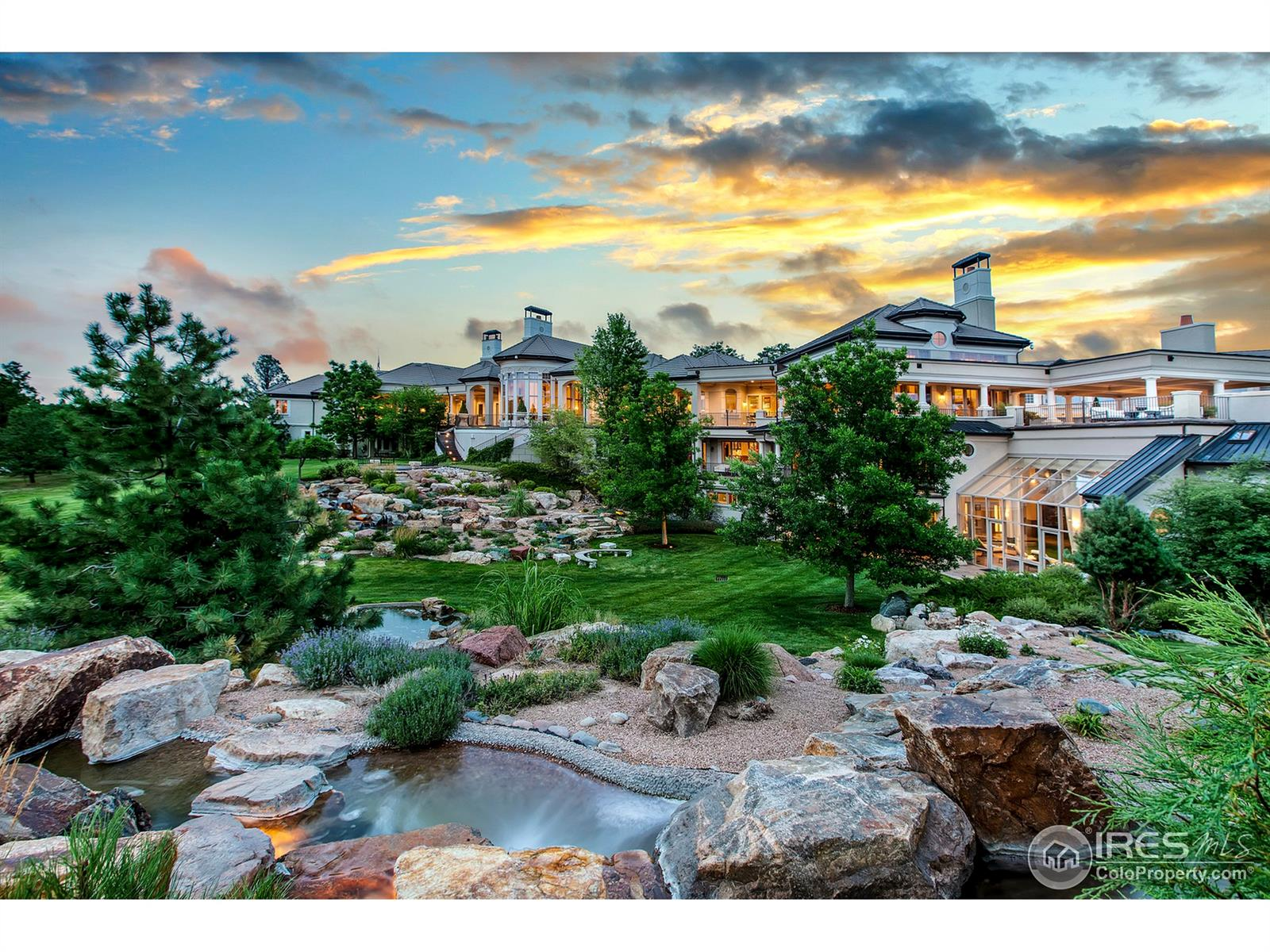 Amazing residence has approximately 45,212 sf with a floor plan suited for entertaining on a grand scale. Features - impeccable furnishings, exquisite finishes, entertainment wing, wine cellar, garage parking for 29 cars. Includes furnishings, art collection, wine. See Listing Agent for list of Exclusions. Entertainment wing -heated pool, Jacuzzi, steam, sauna, his/her locker rooms, theater, dance floor/stage, bowling, billiard table, ping pong, game room, exercise facilities. Horses allowed. Security systems, water purification system, and elevators. Main level of home is ground level, two apartments are on second level above garage.  Lower level includes all bedrooms above grade. Total 11 BR in main residence and 2 in Caretaker's.  Including the Caretaker's Residence (2BR and 3BA), bathrooms consist of 9-Full,  11-3/4, and 8-half.  Total also includes spa area His/Her locker rooms equal to 4-3/4 baths, plus 2 additional showers. HOA dues are $950/year per 35-acre parcel.