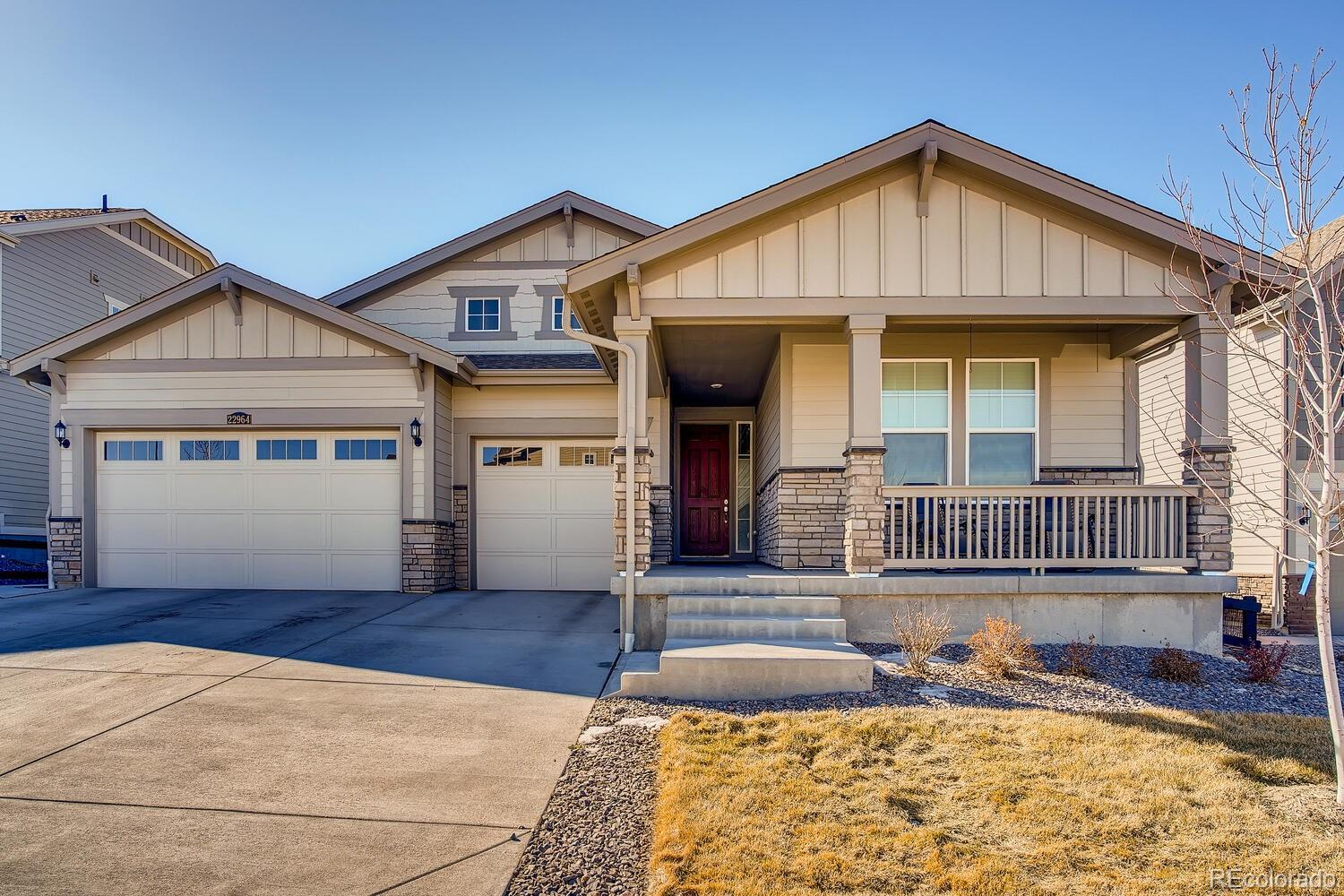 Bring your pickiest buyer. Why wait for new when this gorgeous home is ready NOW?! Fantastic views and backing to open space, this beautiful custom Hudson ranch plan has 3 beds (2 main / 1 bsmt), 5 baths (3 main / 2 bsmt), great room, kitchen, full finished walkout basement,  3 car garage and more. Listing agent is the owner/occupant.  $100,000 in improvements and finishes, bathroom remodels, custom closets (Closets By Design) & additional upgrades plus $30,000 in landscaping. This home is fully customized. The finished basement features a conforming bedroom, ¾ bath, ½ bath, kitchenette, family room and exercise room – perfect for guests or teen wanting their own space.  This home lives large. Meticulously maintained – pride of ownership shines throughout.  You will not find another like this at this price point. This one is a must see. Amenity rich Inspiration provides the best of Colorado living with all the latest technology.  Energy efficiency and state of the art technology/connectivity seamlessly blended with luxury - comfortable elegance.  You will not be disappointed. Close to dining, shopping, entertainment and other amenities. Easy commute to DIA, E-470, Downtown Denver, Golden, Boulder and beyond. Perfect and move in ready -  Welcome Home! This home is NOT in the 55+ section of Inspiration. PLEASE CONTACT LISTING AGENT/SELLER FOR SHOWING APPOINTMENTS.