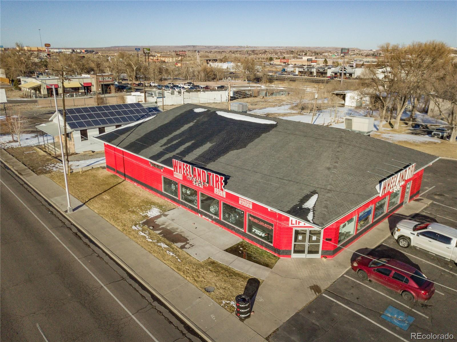3 properties in one! 1st single story has 5368 sft and is recently vacant and 2nd building is a two story with 3600 sft on each floor and is a double net tenant with 4 years left on lease. The 3rd is a 1/2 acre of vacant land opening up to the paved frontage road!