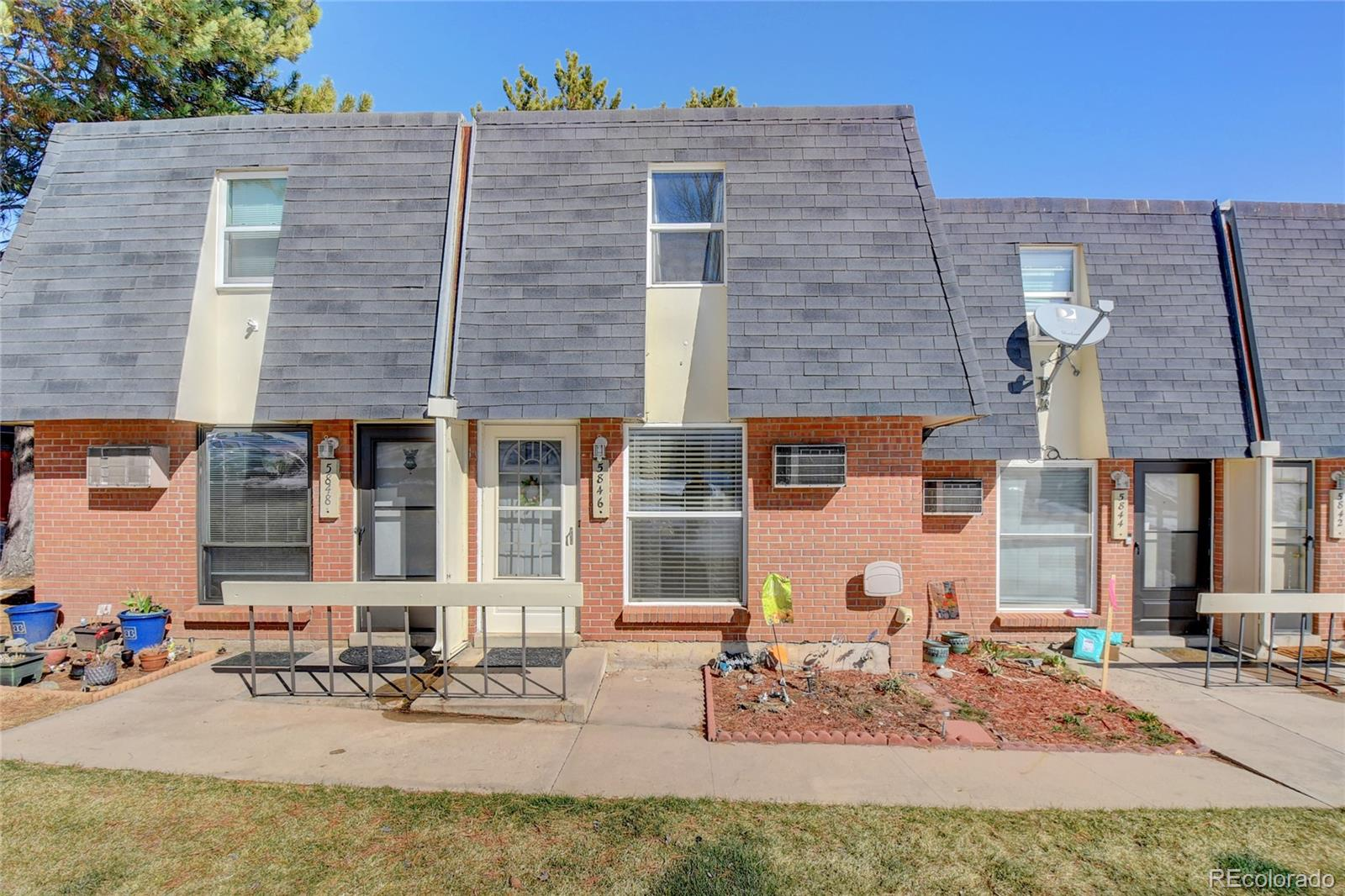 You will love this quiet townhome community in a great location that is central to everything.  This super cute home features 3 levels with 2 bedrooms and 1 full bath upstairs, a 1/2 bath, kitchen, dining and living room on the main level, and a basement with laundry, bonus space and room to grow.  All appliances are included plus washer and dryer.  Enjoy your private enclosed patio and reserved parking.  Easy access to schools, shopping, dining and transportation.  Enjoy the outdoors with Big Dry Creek trail around the corner and the Highline Canal only a 10 minute walk.