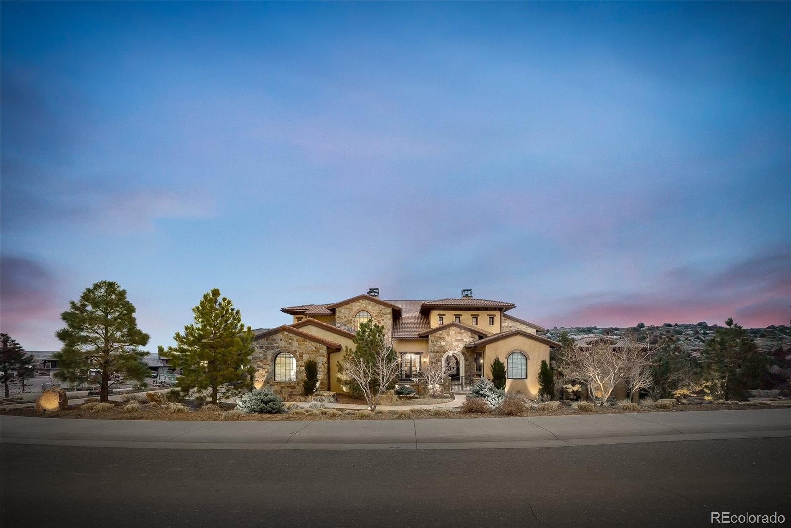 "Don't miss this Estate Tuscan Villa at Ravenna with unforgettable views of stunning red-rock outcroppings nestled in a cul-de-sac surrounded by awe-inspiring views in every direction. Located on one of Ravenna's largest Estate homesites, this super custom home has nearly 9,000 square feet of pure luxury. Upon a grand entry the main floor features gourmet kitchen with wolf/subzero appliances, wet bar, two story great room, private office overlooking the courtyard, a Jr. Suite with private patio, and master bedroom suite with private patio and spa. The remodeled lower walk out has everything needed to entertain year-round with custom ""pub style"" bar, game room, theater style rec room, home gym, steam shower, and private Jr. Suite. The upper level has an additional 3 private Jr. Suites with stunning views in all directions. Outdoor living spaces offer year around covered and uncovered dining and entertaining for all to enjoy. Do not miss out on this rare opportunity to own one of Ravenna's most spectacular Estate properties."