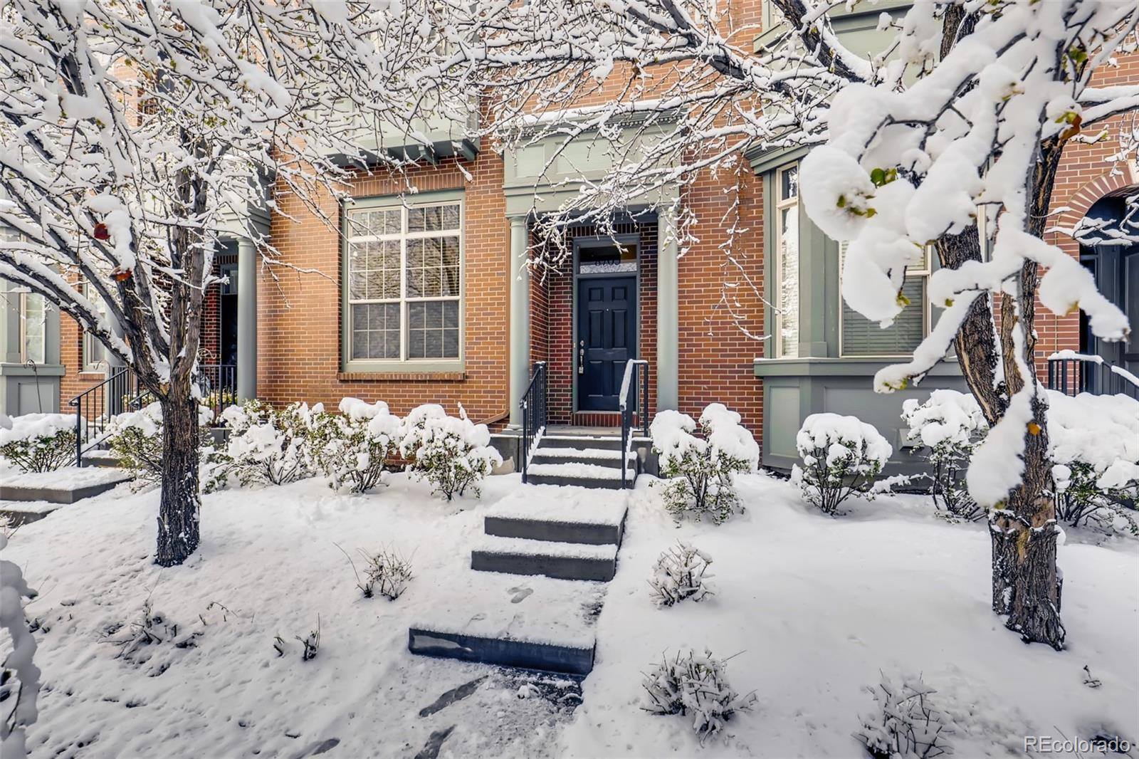 This is your chance to own a well maintained rowhome in the popular Central Park area. Walking distance to A-Train, restaurants, shopping, library, and Town Center. This home offers a private deck off of the kitchen, a private courtyard, a garage for private parking that enters into a mudroom. Granite countertops in the kitchen with cherry cabinets and all appliances included. Upper level laundry with 3 bedrooms. Home Sweet Home!