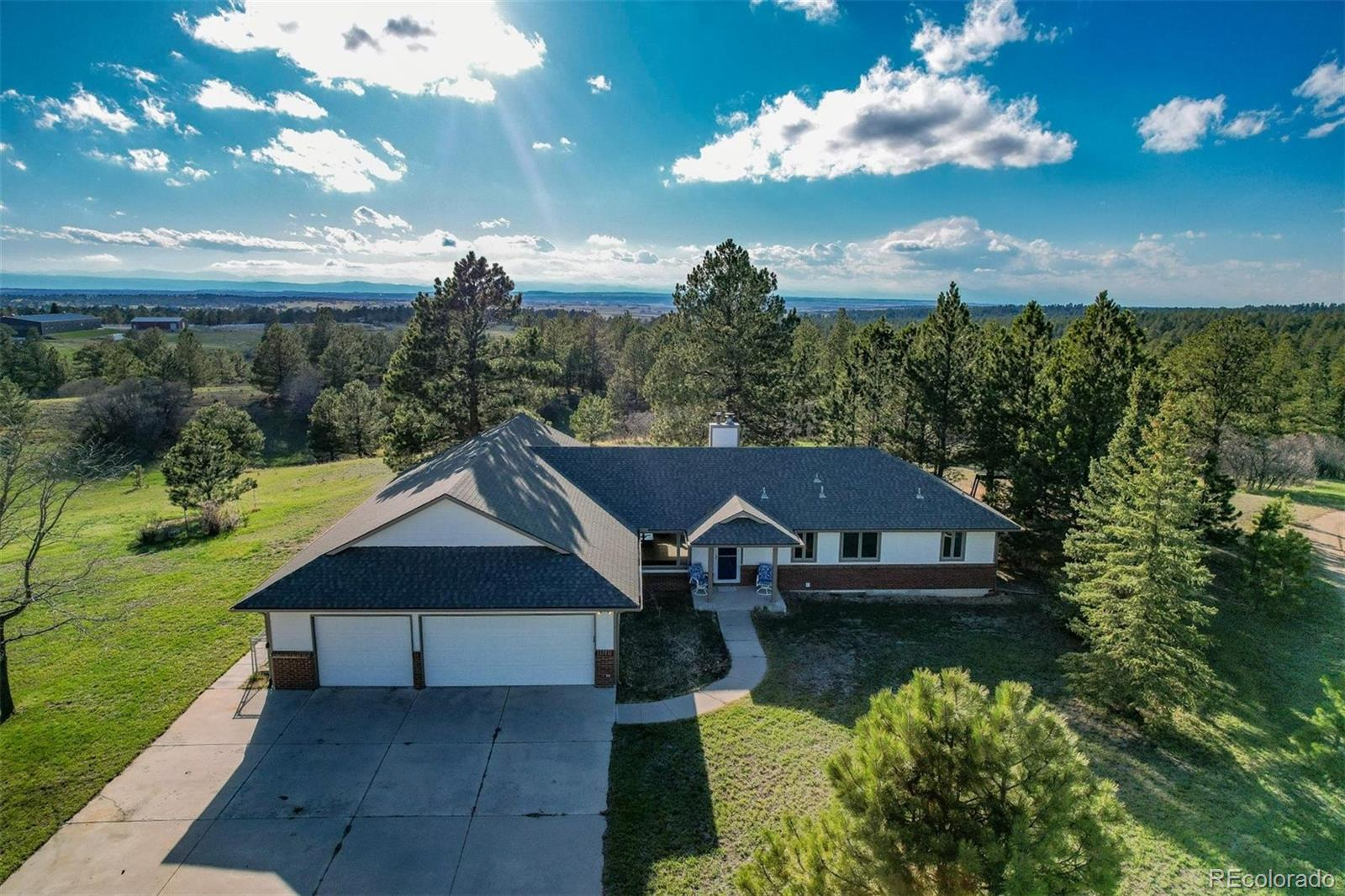 So you're wanting a home on 80 acres, with spectacular views and close proximity to town? Turns out we have the perfect property for you. Welcome to this beautiful sub-dividable oasis full of trees, room to breath and land that will leave you with endless possibilities. This ranch style home is situated perfectly at the peak of the property, giving you visible access to the mountains and all that you'll own. In a world where it becomes increasingly difficult to build a lifestyle, this majestic property has what it takes to lure you in, and never let you leave. Multiple wells, mineral/water rights and the flexibility to subdivide checks all the boxes. You want it. We've got it.