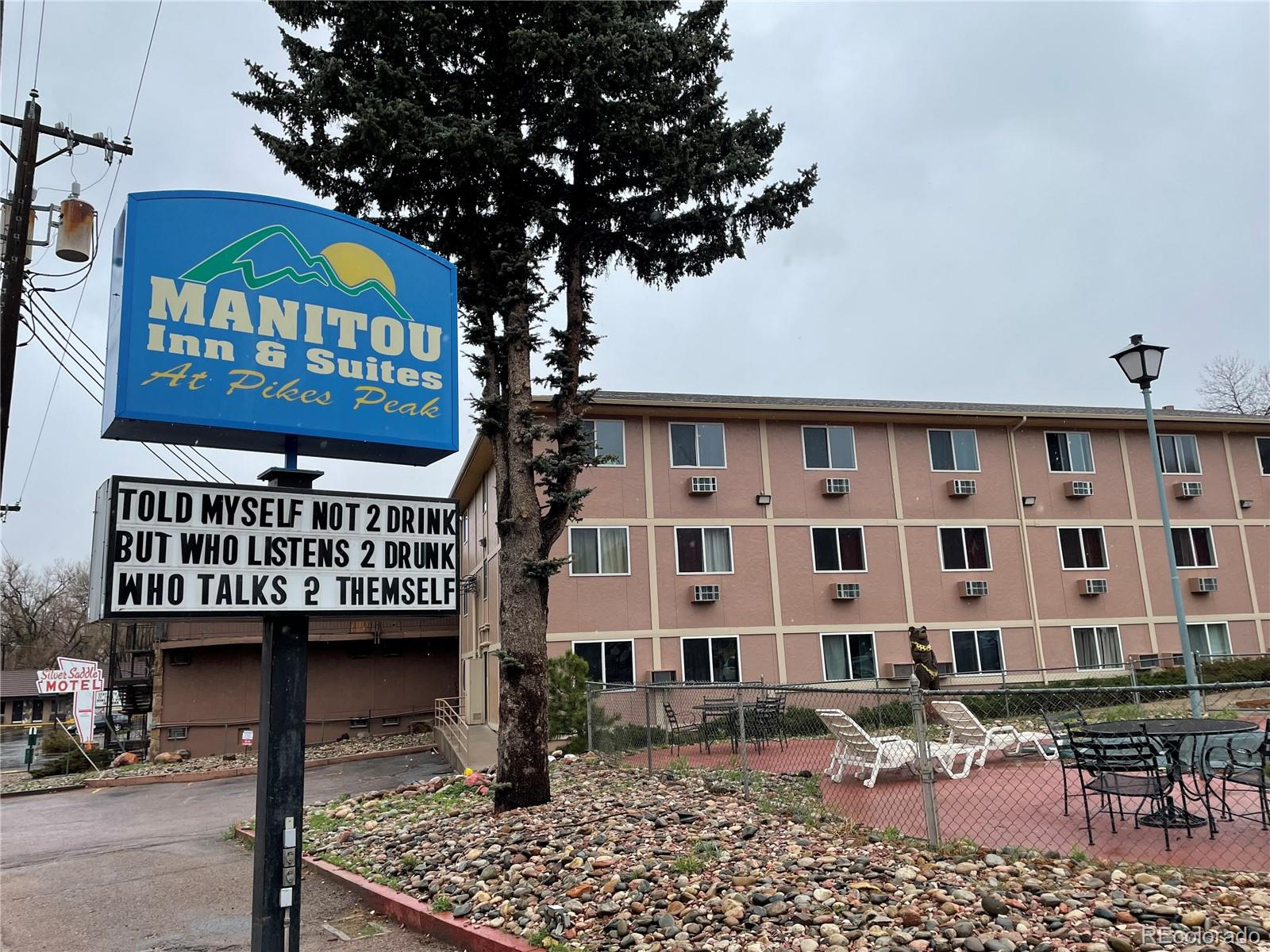 38 Room former Super 8 Motel (229 Manitou Ave) with a single family home (13 Crystal Park Rd) in the same parking lot. Located at a lighted intersection one block away from US Highway 24. Has an outdoor pool and marijuana smoke cabana. All rooms have hardwood or tile flooring. Hotel offers single and double bed rooms, as well as larger suites with single kings, double and triple queens. Weekly rates are offered as well. Currently 85% occupied. Manitou Springs is one of the most desirable places to visit in the Colorado Springs area. Manitou Springs is at the foot of Pikes Peak and is the first town you pass on a popular route to Colorado's biggest ski resorts. Manitou offers quaint small town living and close proximity to the convenience of the city (grocery stores, hospitals, etc.). Manitou is home to many attractions including the popular Incline and Garden of the Gods, an old-school arcade, breweries, great food and plenty of hiking. Manitou Springs is also the only city within a 50 mile radius where recreational marijuana is legal, with the only two dispensaries walking distance from Manitou Inn & Suites.