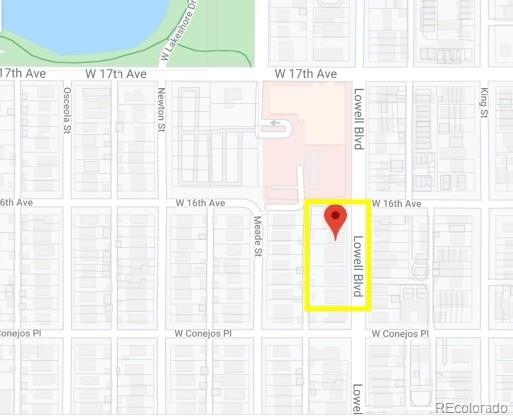 Awesome investor/builder opportunity to own almost an entire acre a block from Sloan's Lake. That's OVER 12 lots!  Rare G-MU-3 zoning allows for multiple build options. There are currently 4 duplexes and 1 single family home located on this parcel of land. All tenants are all on month-to-month leases. Drive by showings only.  Please do not disturb tenants.