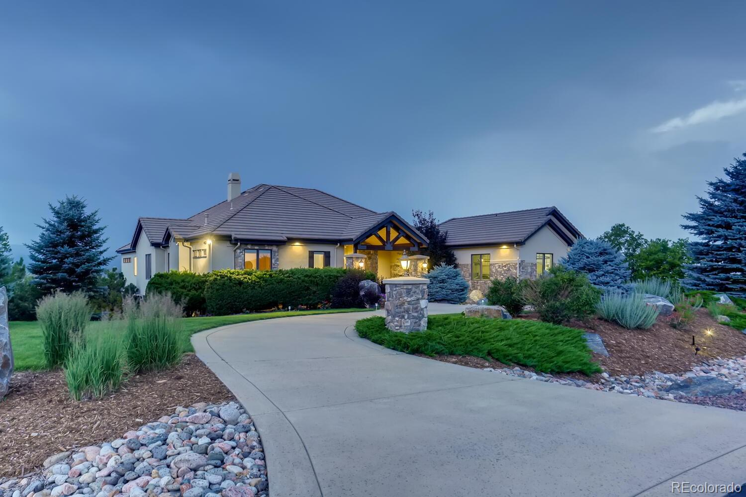 """***Before you read any of this... Watch this video    https://vimeo.com/572363865       and it will tell you all you need to know.***   Views, views and more views.... Here at Cherokee Ridge Estates.  5671 Aspen Leaf resides at the pinnacle of this sought-after community. From the beginning, this property was designed to capitalize on all of Colorado's natural beauty.  There are spectacular views from almost every room, showcasing the front range from Pikes Peak to the flatirons.  From Summer BBQ and S'mores on the deck to cuddling up to an amazing fire gazing over the snow-covered terrain you will wake up everyday pinching yourself asking """"Do we really live here?""""  Come find yourself in the serenity you have always been looking for.  You will be surrounded by top notch finishes including a Wolf Range, Steam Showers, updated kitchen and attention to detail throughout the home. Perfect for entertaining but cozy enough to just stay home with the family for the weekend and turn off your phone.  You will never get bored here... but if you do there are trails, parks within a few minute drive.  As well as all your shopping needs met by Castle Rocks Outdoor mall just 12 minutes south or basic needs just 5 minutes north in Highlands Ranch and then quickly back to heaven.  You have to experience this home and you will understand how much it truly has to offer.  So have your agent book your showing today.  We are excited to share our home with you soon!"""