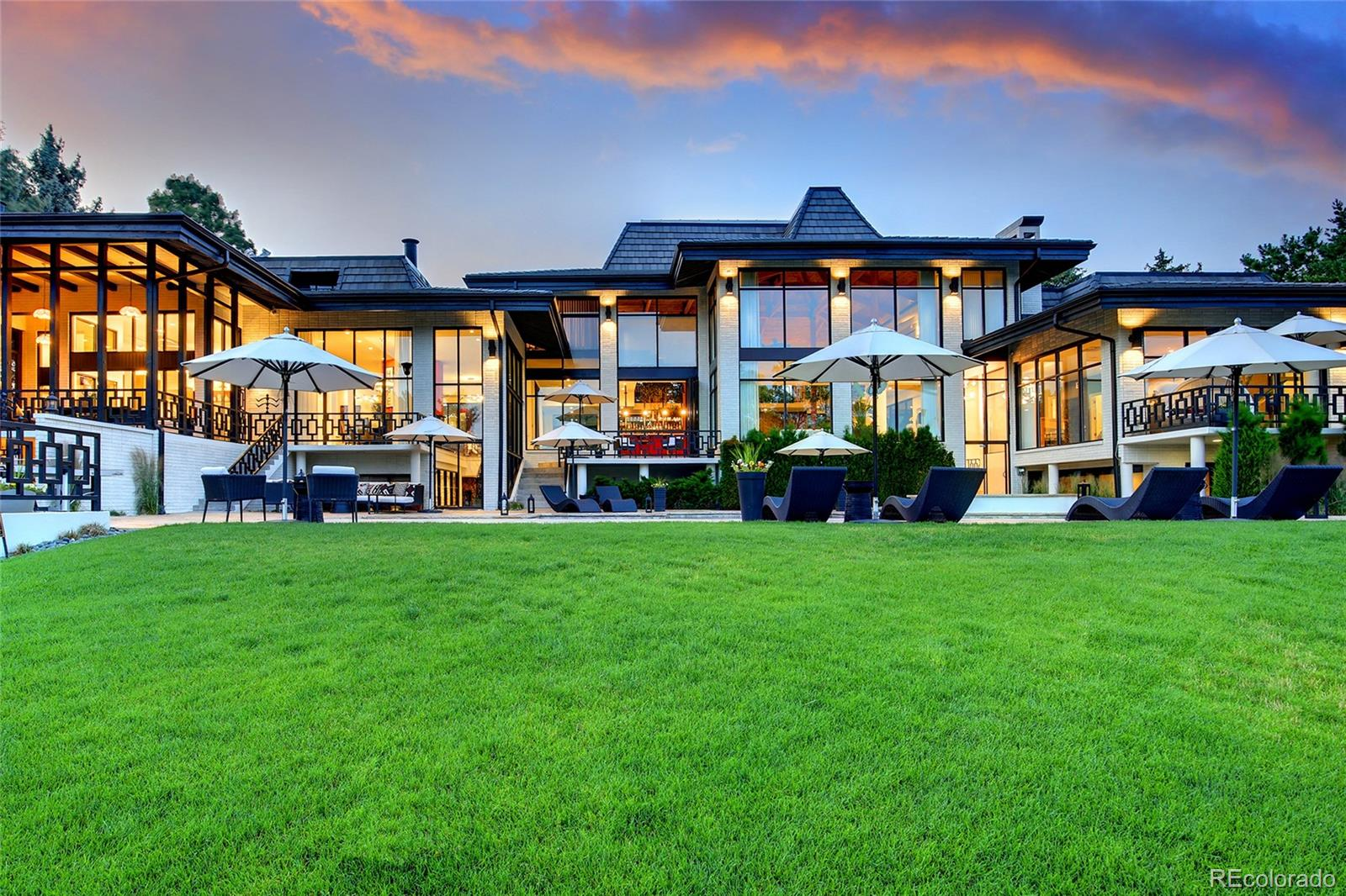 """The original owners called this home """"Utopia"""" and for good reason. Traditional Japanese architecture meets modern and contemporary beauty. Sensational views of the gorgeous pool overlooking the sixth fairway of Pinehurst Country Club and the Rockies beyond. The minute you arrive through the private gate you will be enchanted by the stunning double door entrance - leading to a loggia with indoor trees, floor to ceiling windows, spiral staircases, and numerous terraces overlooking the gorgeous one acre property. Dream entertaining space with open floor plan, custom foyer bar and cozy sitting and dining areas. Grand owners suite with sitting area, his and hers baths, massive cedar-lined closet and a private terrace to take in the view. Private gym with a sunken media room and spa area that rivals any hotel gym. Original lava rock lined two story wine cellar with an entertaining area perfect for poker night or wine tastings. Be sure to check out the secret wine cellar entrance. Take a moment to reflect in the upper level meditation room before practicing yoga on the outdoor patio. Separate caretakers apartment. This home has been meticulously updated with thought going into every improvement and design element. Truly a space that needs to be seen to be believed. Watch the video here: https://www.youtube.com/watch?v=yjWntI5no4s"""