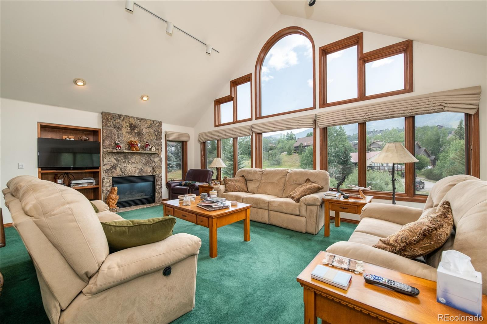 Prime location in the mountain area with huge views of the ski mountain!  The vaulted ceilings and tremendous windows in the great room perfectly frame the ski area runs. This highly regarded, peaceful neighborhood is conveniently located close to the base area in the Fairway Meadows Subdivision.  Whether you are relaxing in the great room enjoying the warmth of the fireplace, or out on your large wrap-around deck, the spectacular views of the ski mountain will marvel and amaze you. Relax in your spacious master suite located on its own dedicated floor offering a luxurious bathroom with walk-in closet and private deck with views of Emerald Mountain. The main level offers a spacious kitchen, foyer, dining area, great room, and laundry room with utility sink. On the garden level, there is plenty of room to spread out with an additional living area, three bedrooms, and two bathrooms.  Offered completely furnished and ready for you to start enjoying the Steamboat lifestyle as your primary or secondary residence. Upgrades include new garage door and new full-size washer and dryer. Rolling Stone Ranch Golf Membership available with Buyer paid transfer fee. Conveniently located close to shopping, dining, the Yampa Valley Medical Center and the free bus stop. Take advantage of this extraordinary opportunity to become a homeowner in this distinguished mountain community.
