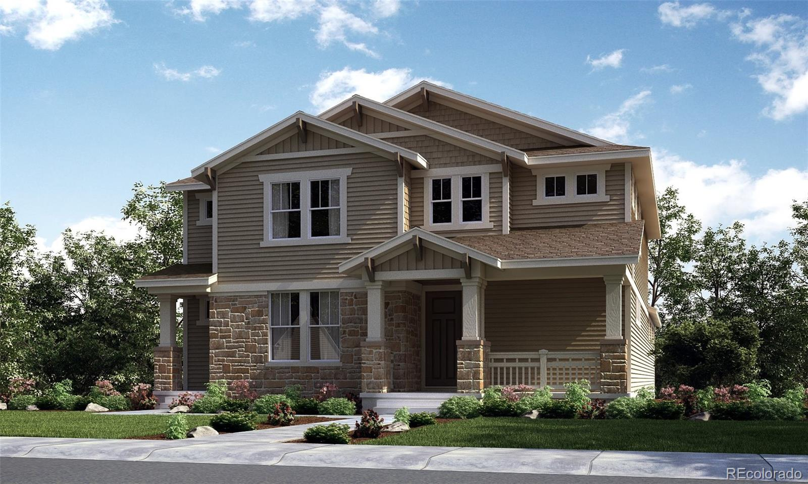 Available March 2022! Located on a southern facing lot in the North end of Central Park, this gorgeous Revelation 2-story features 4 beds (3 upper / 1 main NexGen), 3.5 baths (2 upper / 1 main / 1 NexGen bath), great room (main), kitchen (main), kitchenette (NexGen), formal dining room (main), living room (NexGen), unfinished basement and 3 car garage. Beautiful upgrades and finishes throughout. Central Park is a great Lennar community providing the best of Colorado living with all the latest technology. Lennar provides the latest in energy efficiency & state of the art technology with several fabulous floorplans to choose from. Energy efficiency, and technology/connectivity seamlessly blended with luxury to make your new house a home. What some builders consider high-end upgrades, Lennar makes a standard inclusion. You will not be disappointed. This community offers homes for every lifestyle. Close to dining, shopping, entertainment and other amenities. Easy commute to DIA, E-470, Downtown Denver & beyond. Numerous parks and miles of trails to explore - plenty to see and do. Still time to make design selections.