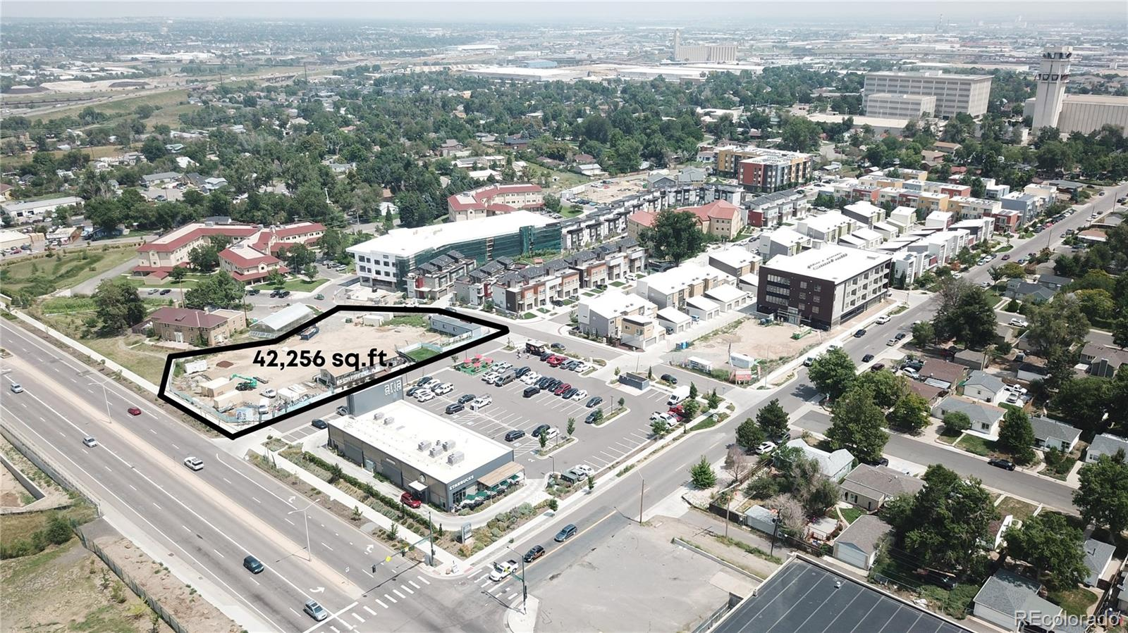 This large 0.97 acre infill redevelopment site is well positioned right across from Regis University in the sought-after Aria Denver Development. 5256 N Federal Blvd is located just North of I-70, just South of I-76, and West of I-25 at 52nd and Federal Blvd. This site is zoned R-MU-30 allowing for a 5-story 112-120 unit multifamily development. The lot is the last undeveloped site in the Aria community sitting adjacent to commercial retail anchored by Starbucks. The building will have frontage off Federal Blvd which sees ~35,000 VPD and is located in between two major highways making commuting favorable. Owner has completed all entitlement work, Phase I & Survey are available during the diligence period.