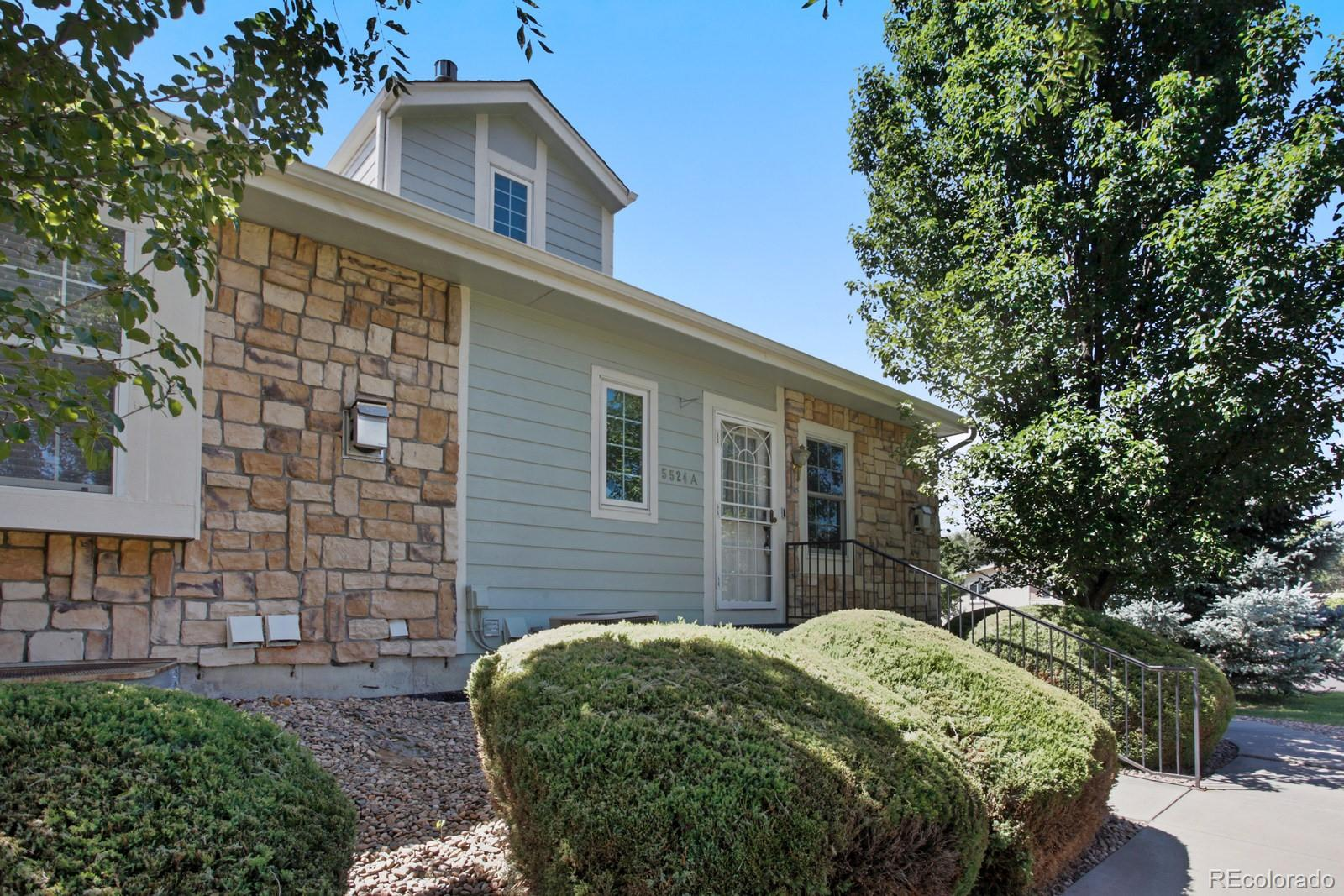 Dreaming of a spacious END UNIT that fronts to quiet open space & trails in a well maintained community.  Light, bright, open, neutral, and vaulted ceilings in the living room with a cozy fireplace. Just off the kitchen is balcony deck with Mountain views. Main floor master bedroom with full size bathroom. Walk upstairs to a bright 2nd  Bedroom with a full size bathroom and find additional storage off the top of the stairs! From the kitchen area head downstairs to a custom built wet bar for entertaining.  Spacious 2 car garage and extra guest parking!  This townhome is 3 levels  with 1311 sqft.  Newer Anderson Windows with 14 yr warranty - double pane/silver coating .  New paint, newer floors. Home is hard wired internet -Cat 5. Millbrook is a cozy little community in Columbine Hills. The quaint community is complete with a private pool , clubhouse. Ideal location just minutes to C470 near Chatfield Reservoir, Santa Fe, Light Rail, Aspen Grove Shopping Center, Downtown Littleton, S. Platte Reservoir, & easy access for a mountain getaway.  This is your chance to call this your home!