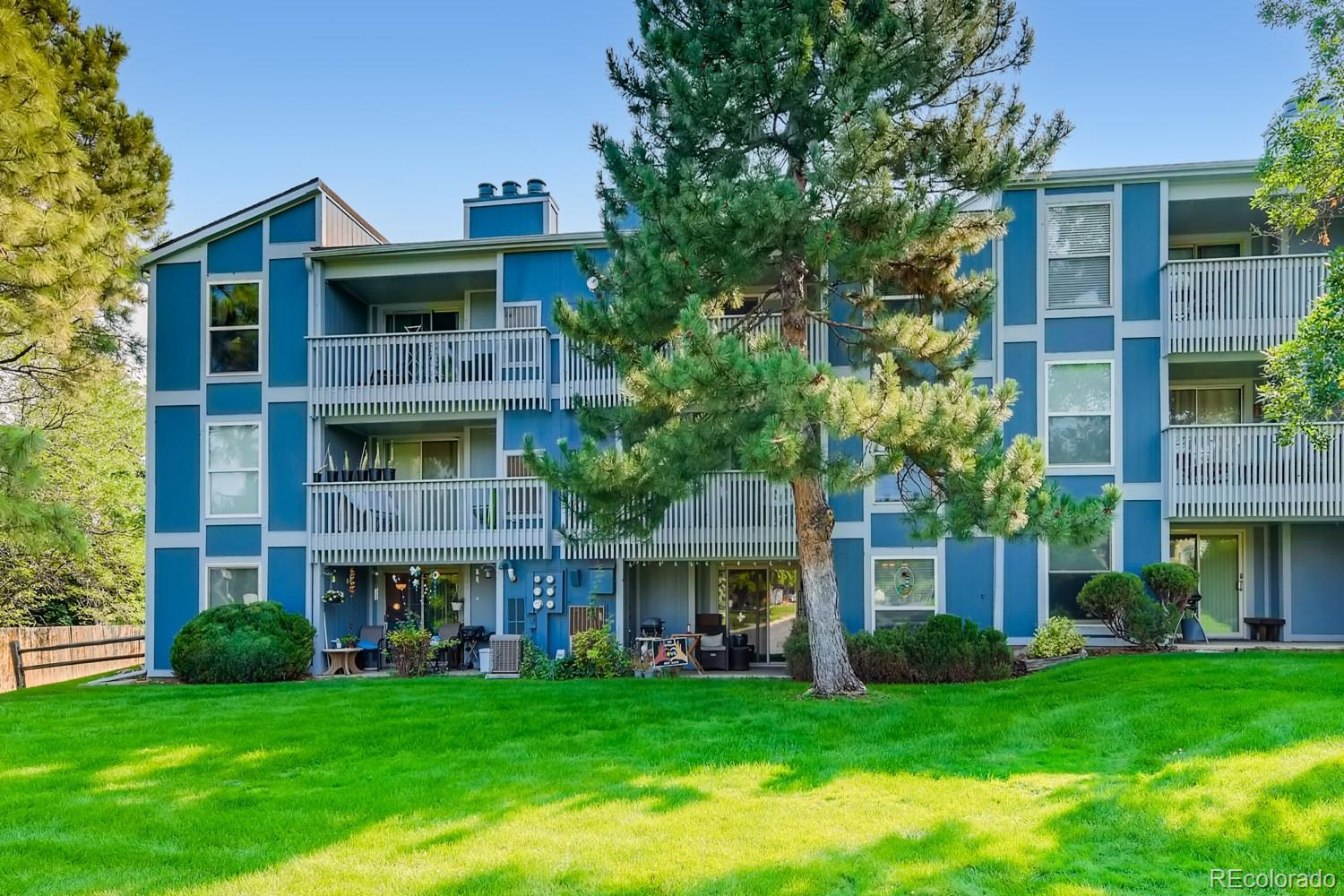 This is a spacious 1 bedroom, 1 bathroom FHA approved condo in Centennial close to DTC! It has everything you could want under $250k... spacious kitchen, dining room, wood burning fireplace in the family room and laundry in the unit! This great condo is on the first floor with HOA maintained grass for you to enjoy right out the sliding door. Your new condo comes with an assigned carport spot and there is plenty of parking spots or street parking and a newer furnace and AC unit.