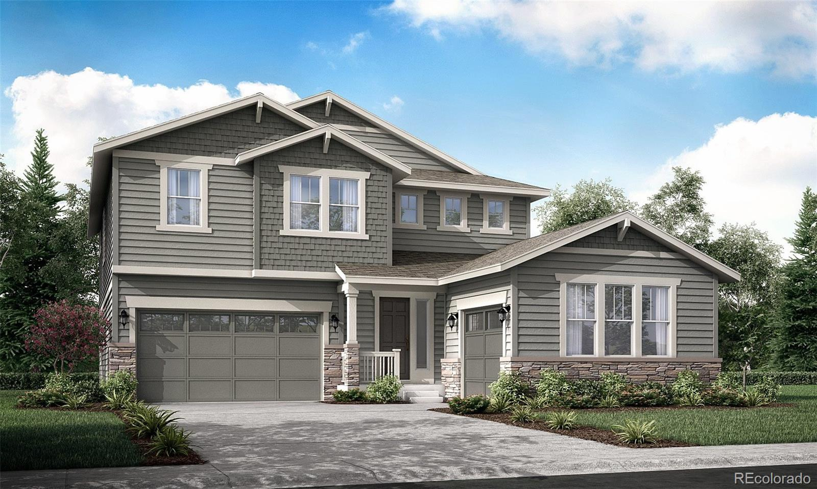 Available February 2022! Located in Barefoot Lakes, this stunning new Aspen 2-story features is located on a corner lot and backs to a green belt. Featuring 5 beds (4 upper and 1 main), 4 baths (3 upper & 1 main),  laundry, great room, kitchen, unfinished basement for your future expansion, 2 + 1 car garages and more. Beautiful finishes and upgrades throughout  including stainless steel appliances, large kitchen island and more. Lennar provides the latest in energy efficiency and state of the art technology with several fabulous floorplans to choose from. Energy efficiency, and technology seamlessly blended with luxury to make your new house a home. Barefoot Lakes offers single family homes for every lifestyle. Close to dining, shopping, entertainment and other amenities.  This community features extensive trails, wide open spaces, and twin sapphire lakes all set against backgrounds of deep blue skies and Colorado's breathtaking sunsets! Welcome Home! There are differences in included features in the virtual tours vs our homes at Barefoot. Please speak to the New Home Consultant on site for more details. Color selections are final.