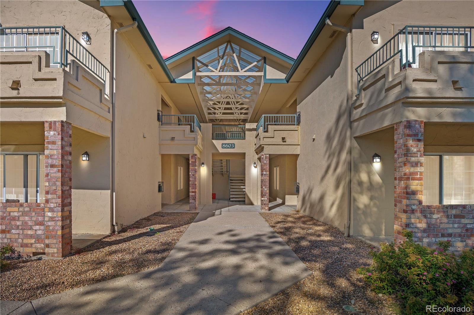 Showings will begin Saturday October 16th .This is a spectacular second level unit with vaulted ceilings located in the coveted Saddle Ridge Condominiums complex. Two bedrooms and two bathrooms with an attached garage.   The open floor plan offers a cozy fireplace in the living room which opens to the kitchen. The master bedroom features a walk in closet and its own private bathroom. A full sized washer and dryer in the unit are already installed and ready for you to use!   Conveniently located close to I-25 and C-470, the location is perfection with easy access to utilize the Dry Creek Light Rail Station, and is conveniently located in the very desirable, Denver Tech Center (DTC).   This unit is located in the renowned  Cherry Creek School district! The development offers a clubhouse that contains a gym, a pool, and a hot-tub. Seller pays $23/mo. for an additional reserved uncovered parking spot. The MLS listing information shows the rate that WOULD  NOT include the uncovered spot.  New carpeting was installed on Thursday, please remove your shoes during showings!   All offers due Monday, October 18th by 3 p.m. Response time  to be October 19th at 3pm. Please provide lender letter/proof of funds with offer. Seller has the right to accept an offer at anytime. There are certain rental restrictions for this complex, please call HOA for details.