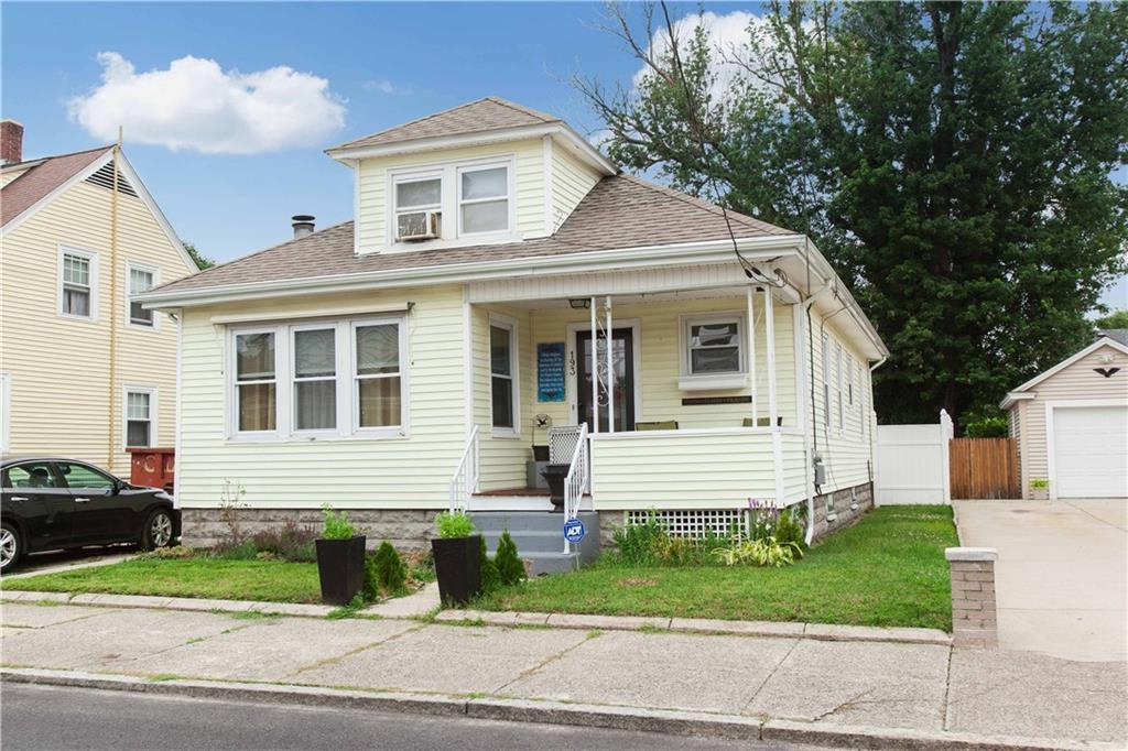 Great Bungalow with lots of charm. Beautiful open kitchen and nice yard for entertaining. Plenty of updates including roof and heating unit.  Finished space in the lower level for extra living area. Garage. It's a must see!