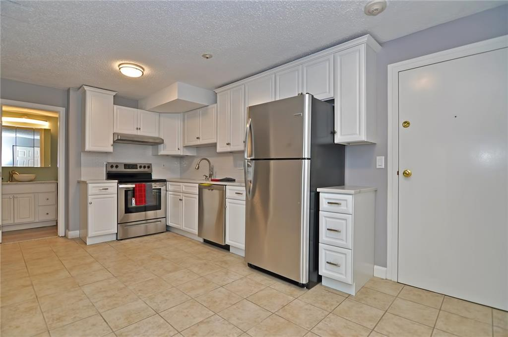 Renovated and move in ready. New stainless steel appliances, cabinets and updated bathroom. Quiet neighborhood and easily accessible to highways as well as shopping. Very easy to show and motivated seller. Cash buyer only.