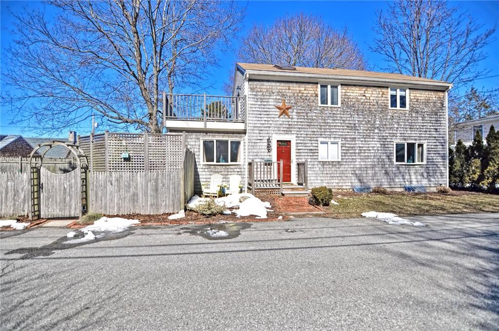 The home you have been waiting for just hit the market! This gorgeous and meticulously maintained Hampden Meadows Colonial awaits and has it all! Enjoy water views of One Hundred Acre Cove from your rooftop deck and enjoy cooking in your white, fully updated granite kitchen! Main level is open and bright with a nice circular flow. The large 20 x 13 family room has a gas fireplace and bay window and is open to the kitchen area. Sparkling hardwood flooring is featured throughout the entire main level and most of the second. Each bedroom has soaring cathedral ceilings with beautiful exposed beams and stained wood which add character and warmth to every room.Master bed with skylights and french doors leading to balcony Second floor laundry, freshly painted interior, new lighting fixtures, gas fireplace and a private patio/deck and its all nestled at the end of a quiet dead end road!