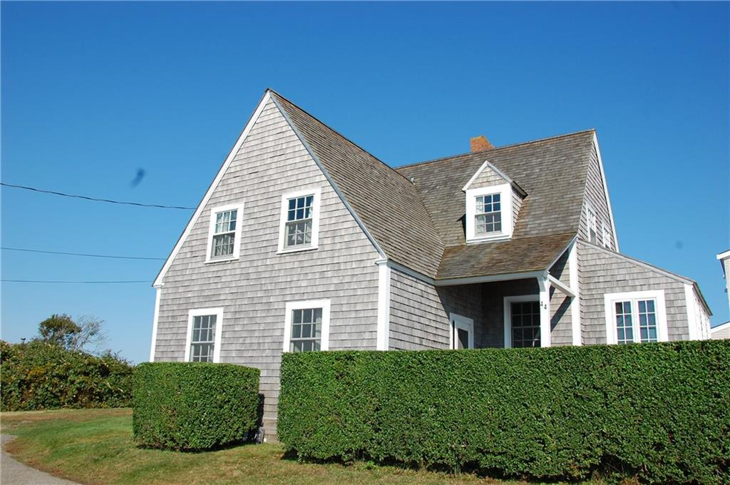 Rare opportunity to live in the Round Pond/Tappens Beach summer community. This offering includes 44 and 40 Round Pond Road; a classic 3 bedroom 2 bath summer cottage with an outdoor shower over looking Round Pond with views of the Sakonnet lighthouse. Hardwood floors thru out. Walk to Tappens Beach,The Sakonnet Harbor,Lloyds Beach as well as the Sakonnet Golf Club. Walk into the large kitchen with views of the conserved meadow. The kitchen opens into the living room with views of Round Pond and the ocean beyond. A bedroom, sitting area and a 1/2 bath are downstairs. The second floor has two more bedrooms, sitting room and a bathroom over looking Round Pond and the lighthouse. 44 Round Pond is tucked behind hedges offering one privacy from the road. Enjoy the sound of the ocean and watch the swans swim in the pond thru out the day. A very special cottage in a gorgeous setting.Buyer to pay LCAT