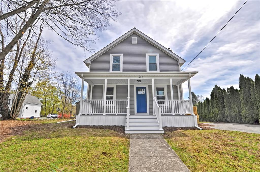 Brand new colonial with all the updates! This house has been completely renovated from top to bottom! Front porch and back deck with views of Muddy Cove pond.  Tile flooring throughout kitchen with stainless steel appliances and fresh white cabinetry. Gleaming brand new hardwoods throughout living area and 3 bedrooms. Second floor laundry, Updated bathrooms, fresh new paint, unfinished basement, all sitting on a large lot. Move right in!