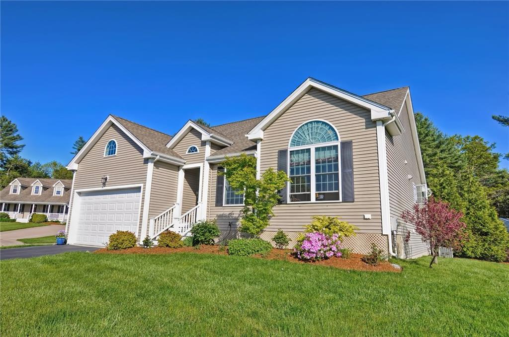 Have you been searching for a RARE SINGLE LEVEL CONTEMPORARY RANCH at Horton Estates 55+ only community? Here is what you have been looking for!This home has been meticulously maintained and features a spacious and open floor plan with an abundance of natural light throughout.The granite kitchen will impress as it is larger than most with expansive counter space and cabinet storage. The master suite includes a private en suite bath, double closets and a separate additional walk in closet.The feature window and cathedral ceilings in the office are amazing.Enjoy the gas fireplace in the family room,first floor laundry and the private rear deck. 2 Car garage, irrigation, and full unfinished basement with tall ceilings offers lots of storage and potential future living space. This unit is well positioned in the neighborhood as its parcel offers a very private yard with no other homes immediately visible from most windows. Kitchen,Dining,Family,Office,2 Beds,2 Baths! All this gorgeous home needs now is you!