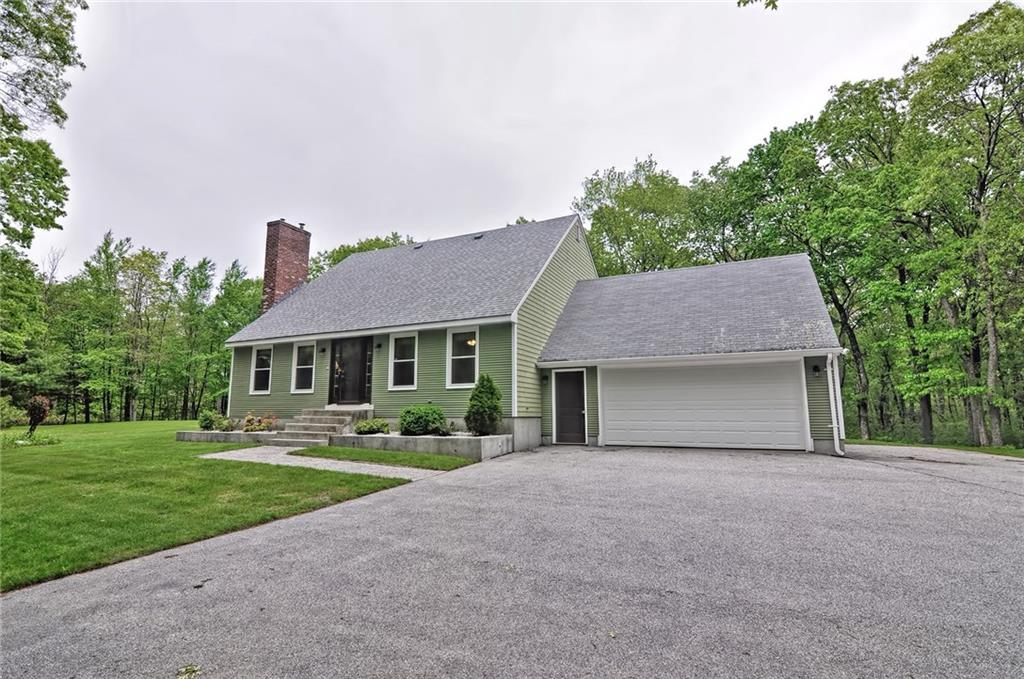 This Must See Meticulously Maintained Cape comes with 5+ Acres of Privacy! Pride of Ownership Really Shows!! This 3 Bed, 2 Bath Home Offers Gleaming Hardwoods on Both Levels, A Large Dining Room and Kitchen Perfect for Entertaining that Leads to a Large Screened in Back Porch with Custom Surrounding Deck. Relax in the Comfortable and Inviting Living Room and Warm Up by the Highly Efficient Pellet Stove That Not Only Looks Great, but Helps Cut Down on Heating Costs! The Second Floor Open Den Space Will Surely Fit Any of Your Needs for an Office, Playroom, Media Room, 2nd Family Room, ETC! Offering a Full Unfinished Basement and an Attached 2-Car Garage, There is Plenty of Room to Spread Out! The Private 5+ Acres is All Yours to Enjoy and is Also Horse Permitted! Enjoy the Country Setting All While Being Located Just Minutes to Major Roadways. This Beautiful Property is Just Waiting For You to Call Home!