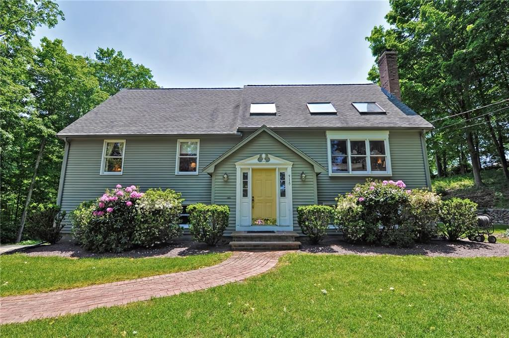 Welcome Home! This 4 Bed / 2 Full Bath Cape Has Been Impeccably Maintained by its Original Owners.  Nestled on a Private 1+ Acre Lot, The Landscaping Exudes Peace and Tranquility Complete With Your Own Screened Gazebo to View the Beautiful Meadows in the Distance.  As You Enter The Home, A Large Landing Split Entry Awaits, 2 Coat Closets Adorn Either Side of the Entry With a Half Flight of Stairs up to The Main Living Level or a Half Flight Down to the Semi-Finished Basement with Laundry Room, Exercise Room and Garage Access.  The Main Level Consists of an Expansive Great Room with Exposed Beams and a Floor to Ceiling Wood Burning Brick Fireplace.  Off the Great Room is an Ample Sized Kitchen with Recently Updated Granite Counters and an Eating Area with Enough Room for 8-10! There are 3 Bedrooms on the Main Level as Well as a Full Bath also with Granite Counters.  A U-Shaped Staircase Leads you to the Upper Level With an Immense Loft Area Overlooking the Great Room Below.  The Master Suite with Full Bath, Walk-In Closet and Sitting Area Also Resides on the Upper Level.  Care and Attention Has Been Given to Planning, Building and Living in This Wonderful Home, from the French Drains to The Huge Skylights, Central Air, 2 Year Old Windows, Walk-Out Basement, Paid-For Solar System (No Electric Bill) and so Much More.  This Home is Ready for The Next Owners to Move Right in and Enjoy Life!