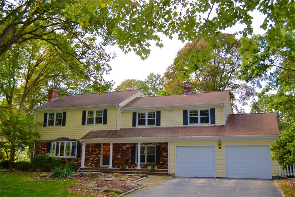 Sought After Barrington Neighborhood!  Beautifully proportioned 4 bed 3 1/2 bath center hall Colonial with over 3100 sq.ft. of space!  Living room w/ gas FP,  tasteful formal DR, fully equipped cook's kitchen which steps down into a family room w/ gas FP.   Also, this 1st floor has the perfect space for a child's play area...tiled for creative development! An office-studio-small bedroom and half bath are also on this 1st level!  The second floor has a generous Master bedroom suite w/fabulous bath and separate dressing room walled with closets!  Another bedroom suite could accommodate and pamper someone special!  Two other bedrooms with full bath complete this level.  Finished basement could make a great spot for a workshop, playroom or gym.  Lovely landscaped yard with patio, brick walkways and inground sprinkler system... whole house generator, central AC, newer baths are but a few of the enjoyable conveniences.  Nearby amenities include short stroll to water, Blue Ribbon Schools, Town center. bike path, restaurants, library and shopping!  Simply THE BEST!