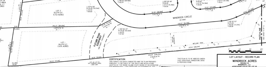 Incredible Opportunity to Build Your Dream Home in Beautiful Windrock Acres, a Spectacular 12 Lot Seaside Neighborhood Development in the Heart of Portsmouth! This Fully Approved Buildable Homesite Consists of 2.67 Acres (116,479 sf.) and Offers Underground Utilities, Natural Gas, Town Water and Septic System. Bring Any Builder or Design a Home with Meridian Custom Homes. Enjoy Life on The Island and Close Proximity to the Beaches! Only 15 Minutes to Newport and 30 Minutes to Providence. Home Packages and Other Lots Available!