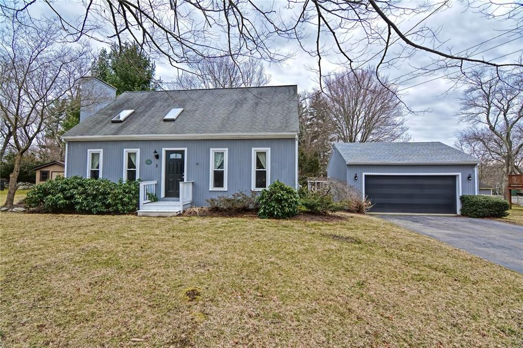 Pride in ownership! This charming cape is located in a quiet desirable neighborhood and is conveniently located to all the amenities downtown Bristol has to offer. The Living room features a gas fireplace, cathedral ceiling and newer windows and skylights that flood this home with natural light. The first floor includes one of two updated full baths, one bedroom and a formal dining space that leads into the updated kitchen. The deck off the kitchen overlooks a private large yard with stone and gravel seating/fire pit area. Combine that with the finished basement for the perfect indoor/outdoor entertaining. The large garage with two year young roof offers additional storage. Some of the many updates include a new pressure pump and newer water heater. You won't want to miss this one!