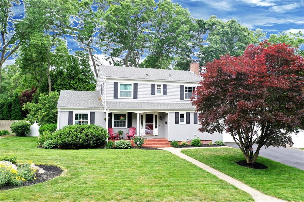 Come and get it! Well-maintained, 4-bed, 2.5-bath colonial in the heart of East Greenwich. Walkable to many of EG's finest schools, including Meadowbrook Elementary, this home checks all the boxes. The first floor boasts an enormous living room, formal dining room, eat-in kitchen, recently updated half bathroom AND a large family room with fireplace. The second floor has 4-bedrooms, with a well appointed master bathroom and recently updated guest bathroom. A huge deck and fenced-in yard with a basket ball court, provide the family with fun all summer long! Come see it quickly because it will not last long!