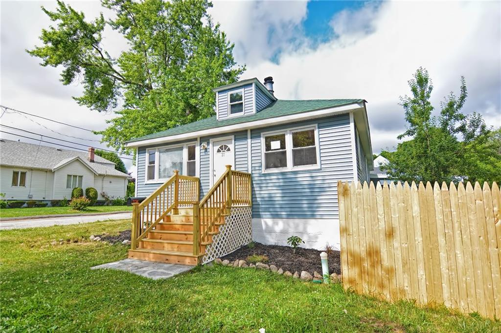 *BUYERS FINANCING FELL THROUGH* Here's your second chance at this COMPLETELY RENOVATED property! Nothing left to do but move in! This charming bungalow sits on a large corner lot in a conveniently located neighborhood. This home offers gleaming hardwood floors, new windows for plenty of natural light, an open floorplan, new vinyl siding, new roof, new hot water heater, new baseboard heating and so much more. The two car garage and oversized driveway allows for plenty of parking. A brand new kitchen featuring granite countertops, white cabinets and stainless steel appliances opens up to a dining area and living room with fireplace. A large bonus family room with wood burning stove leads to the fenced in back yard that is perfect for entertaining with an above ground pool ready for you to use this summer! Schedule your showing today! **BEST AND FINAL OFFERS DUE 9/7 by 5pm**