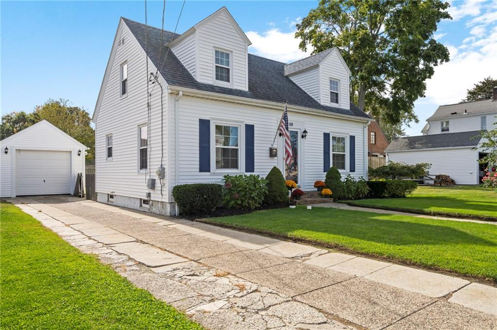 This fully renovated and well-kept Cape Cod is also set in a beautiful established Darlington neighborhood near all conveniences, the T-station and easy highway access! This incredible home was completely renovated in 2012 with many cosmetic and mechanical updates to list!  New single layer roof, kitchen, windows, vinyl siding, flooring, lighting, and heating system all in 2012! Enjoy your fully fenced private yard with one car garage and off-street parking. The first floor features a spacious front to back family room with beautiful hardwood floors and a brick fireplace, dining room, half bath, office/third bedroom and renovated kitchen. Second floor has two large bedrooms and a renovated full bath with tub and shower! Al rooms are spacious and bright with beautiful natural light throughout! Hardwoods throughout the first and second floors. Recently finished lower level with laundry and office/playroom. Security system and all stainless kitchen appliances and washer/dryer included in sale! Highly efficient and desirable natural gas heat and low maintenance vinyl exterior. Freshly painted interior! Half bathroom on the first floor updated February 2020! This really is a beautiful home and all it needs is you! Highest and best due by Saturday 10/17/20 at 10:00am.