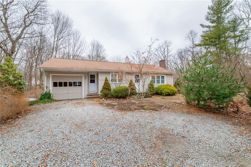 Single level ranch located in desirable north Scituate neighborhood. Property features a one car garage with built in custom workbench, vinyl windows, large deck, young well, and much much more. Situated on over two acres with a beautiful brook running along the edge of the property, this picturesque setting is just waiting for you to come home. Don't miss out!