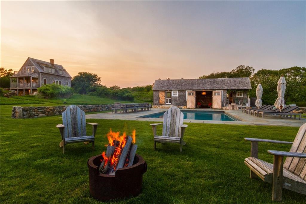 Main House Living Room - Shallow wood burning Fireplace