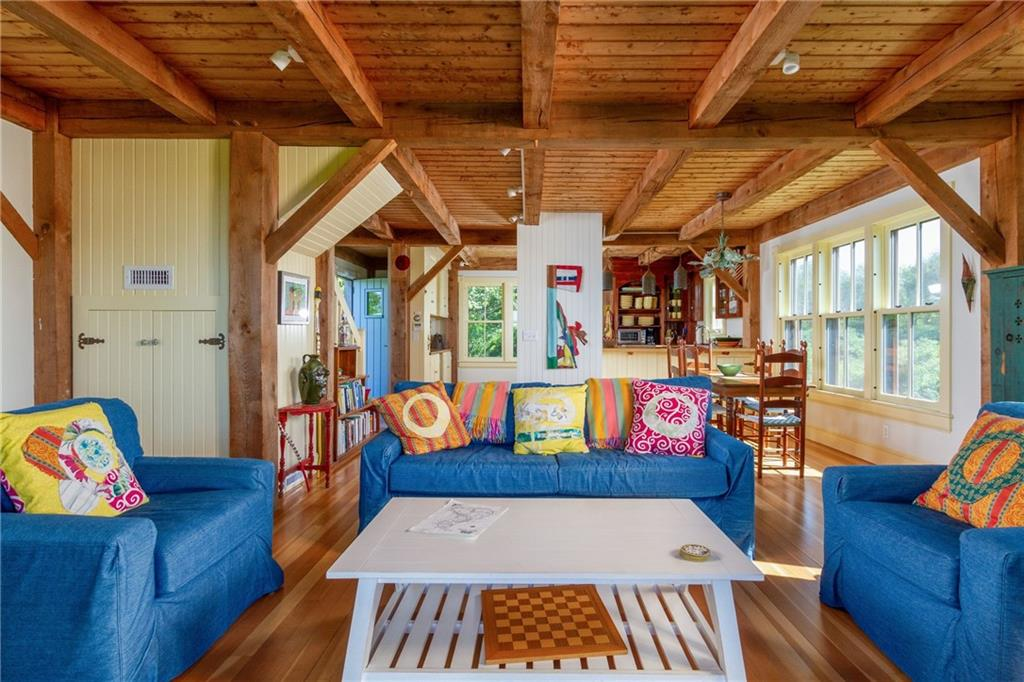 Guest House Kitchen Area - Fir Floors - Retro Large Big Chill Refrigerator/Freezer