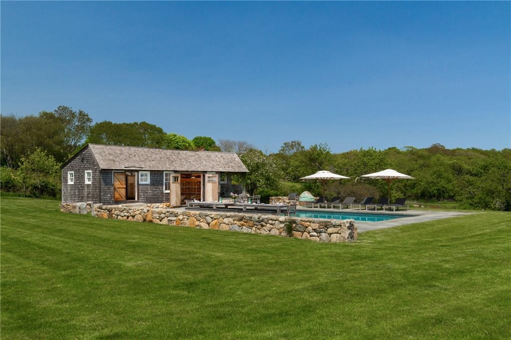 The Brick Room- Pebble Gunite Saline Pool- Natural Stone Patio