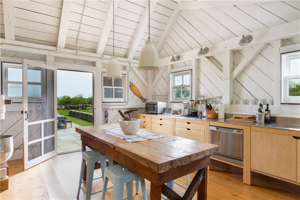 Pool House Kitchen Area - Large Subzero Refrigerator/Freezer