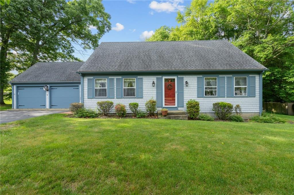 Bring your vision to this lovingly cared for family home. Some cosmetic updating will go a long way to restore this custom home that was built with functionality and longevity in mind. Roof and Furnace are under 10 years old! Enter to a small mudroom area that connects the two car garage and eat-in kitchen with fireplaced sitting area! This space offers easy access to the private back deck for summer grilling. Double parlor and first floor bedroom with a half bath complete the first floor. The second floor was built with beautiful hardwood floors, a generous front to back bedroom with a double closet; two additional bedrooms, a large walk-in closet or office space, together with a full bath. The basement offers a second bath for convenience. This expanded cape, situated on a private corner lot offers a great and well-loved space to make your own! Please see the last two digitally staged photos to get an idea what some easy upgrades could look like!