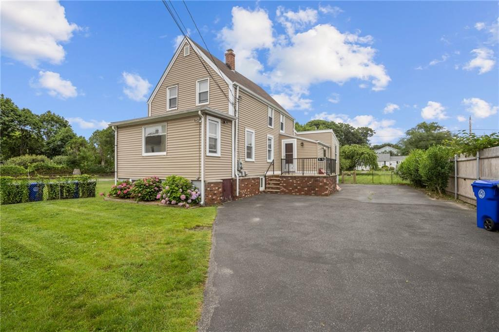This 1,224 square foot home in desirable Bristol, RI is now for sale! The first floor features a large family room, eat in kitchen, 2 bedrooms and a full bath with tub and shower. The second floor features an additional Kitchenette, full bath and a third bedroom, ideal for a family who needs a separate space for one family member. Walking distance to the Town Common, churches, Hope street and Bristol's finest restaurants. Other features include off street parking, gas heat, large fully fenced in yard with storage shed and garden area. ***House address is actually 9.5 Easterbrooks Avenue. It is located behind 9 Easterbrooks Avenue*** Disclosure: Real estate broker is the owner.