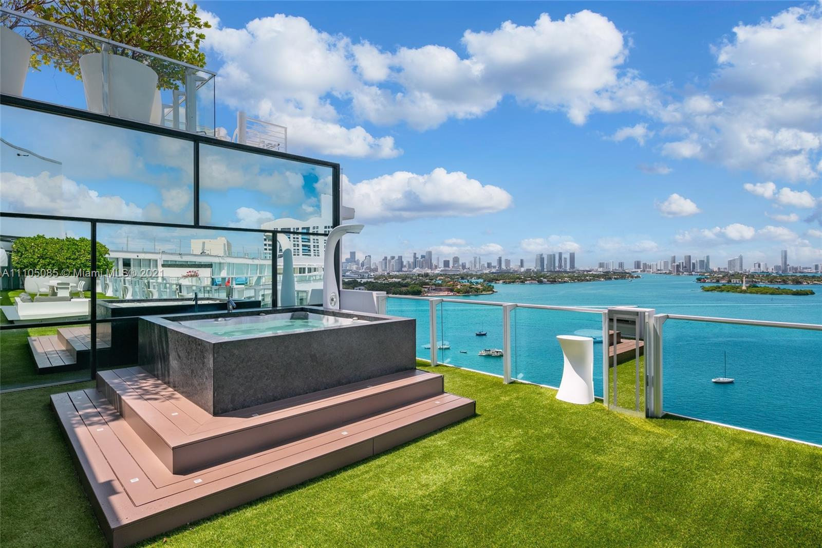 Welcome to the Ultimate South Beach Penthouse! This Designer Curated Residence is the ONLY combined Tower Suite at the Mondrian Hotel & is the LARGEST In the building at over 4,120SF. Enjoy 3 Bedrooms , which includes 2 oversized primary suites , an office, chefs kitchen w/ top of the line appliances, smart home system, a 1,400 SF Terrace w/ private jacuzzi & completely unobstructed Bay & Downtown Skyline views from every room. You will be hard pressed to find a better postcard view of the Downtown Skyline Sunsets .TS2/3 offers a sprawling open layout with tons of entertainment space for those who want to host & entertain. Additionally, the newly renovated Mondrian Hotel offers a world class spa, bay front fitness center center & Baia Beach Club which has a fun, sexy vibe & 5 star dining.