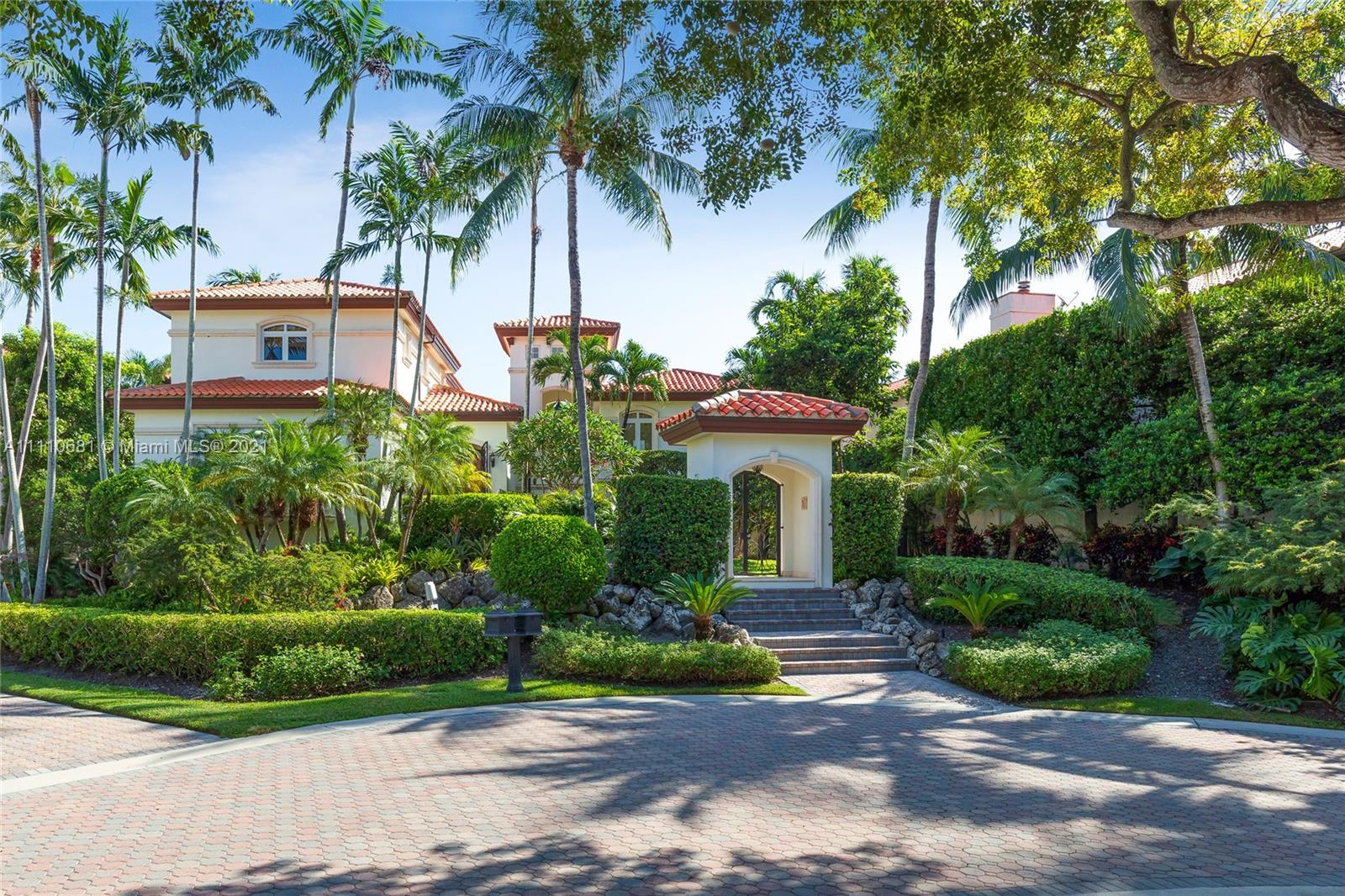 Retreat to one of the finest estate homes in the ultra private Deering Bay Yacht & Country Club in Coral Gables. With a double lot and sweeping views of the golf course, you can enjoy complete tranquility within your home or the world-class amenities just outside your door. This ideal family home has it all – 5 beds/6.5 baths including a primary suite with sitting area, a pool house, a full cabana bath, and a bonus office/den. The well-appointed kitchen with breakfast area opens to your wraparound terrace and family room for indoor/outdoor living. Formal living and dining rooms, three car garage, and elevator. The 220 acres of resort-style amenities include an Arnold Palmer signature golf course, tennis courts, clubhouse, fitness center, and marinas. Top public and private schools.